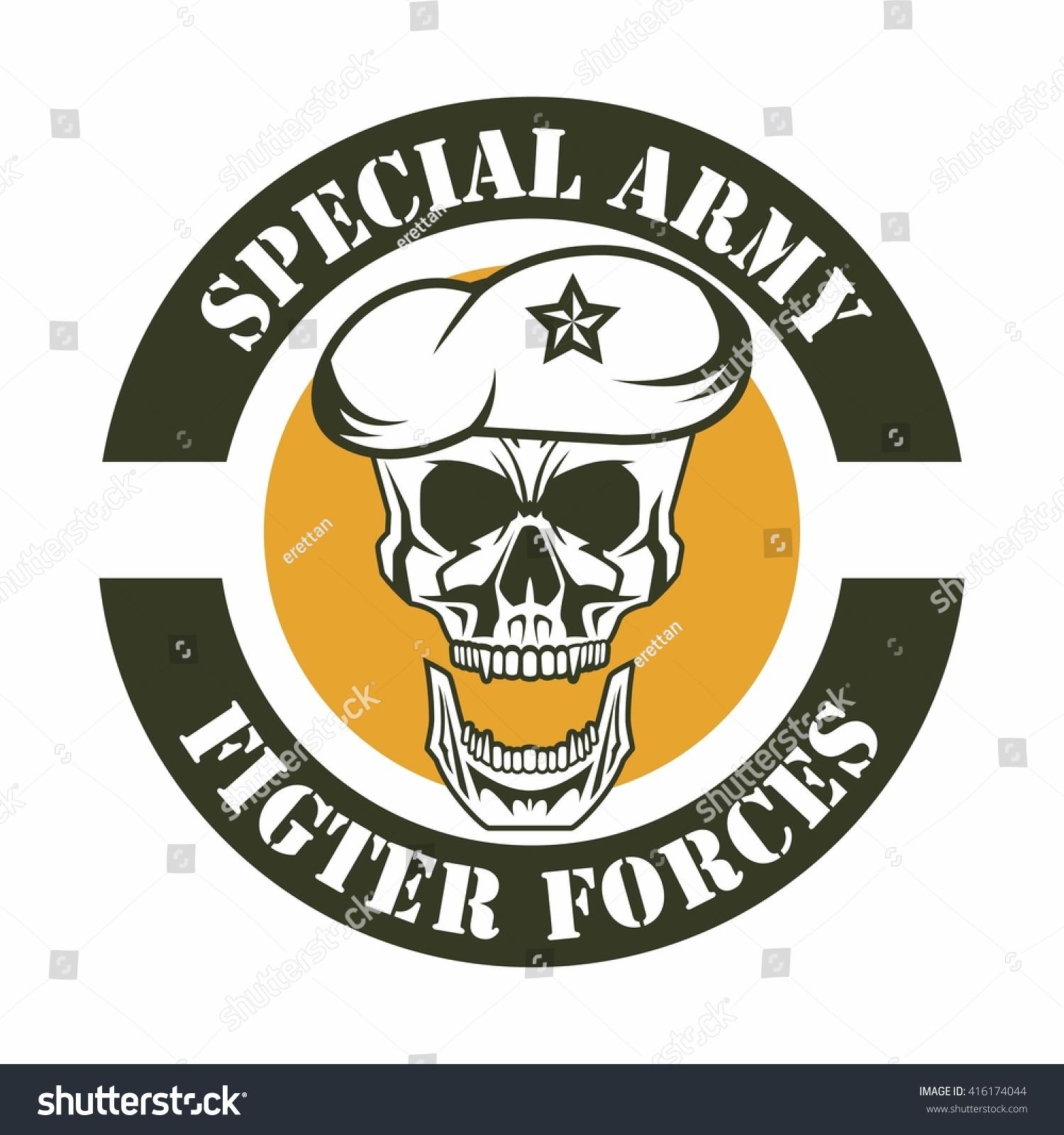 army logo template stock vector 416174044 shutterstock. Black Bedroom Furniture Sets. Home Design Ideas