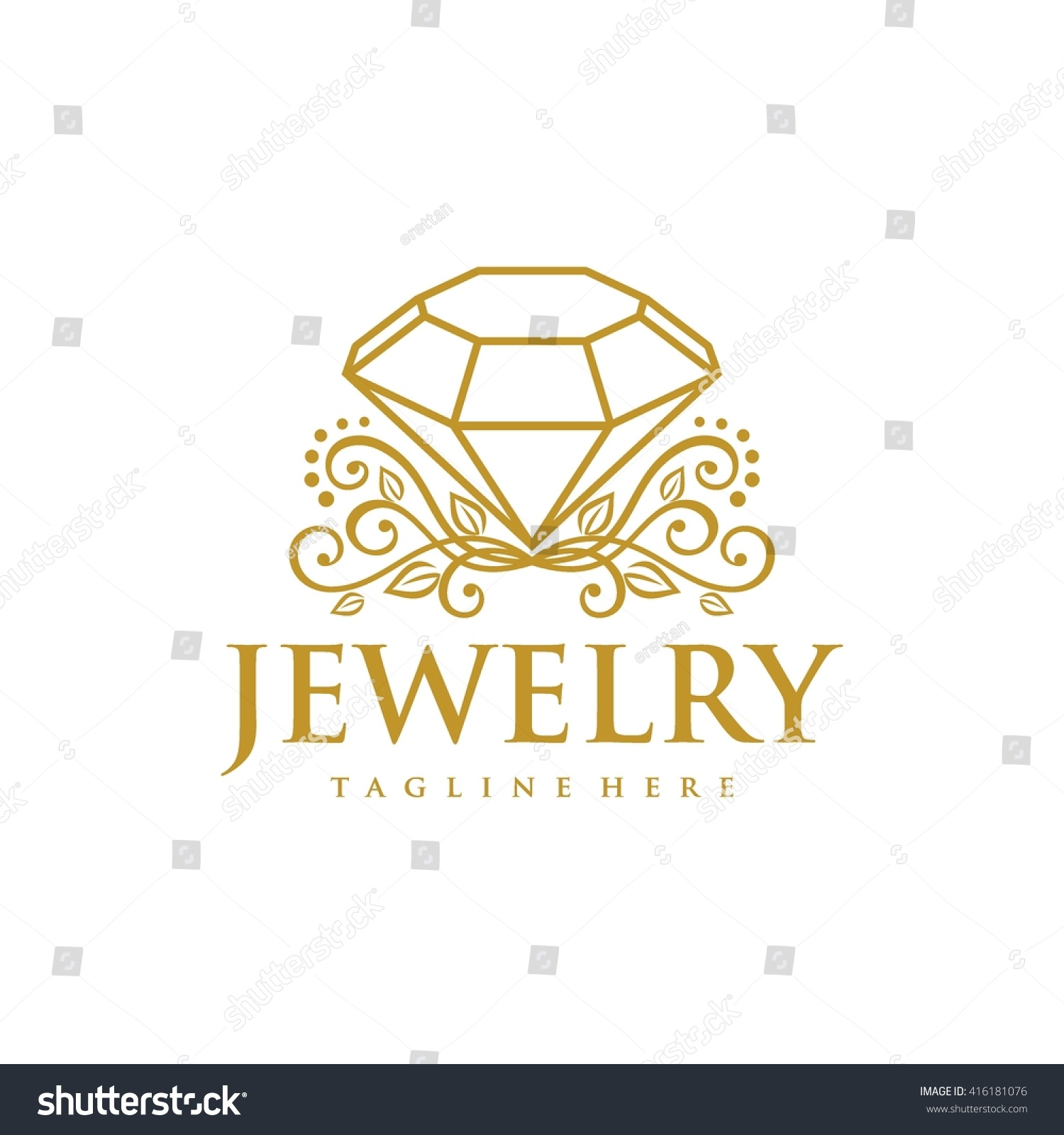 jewelry logo template stock vector 416181076