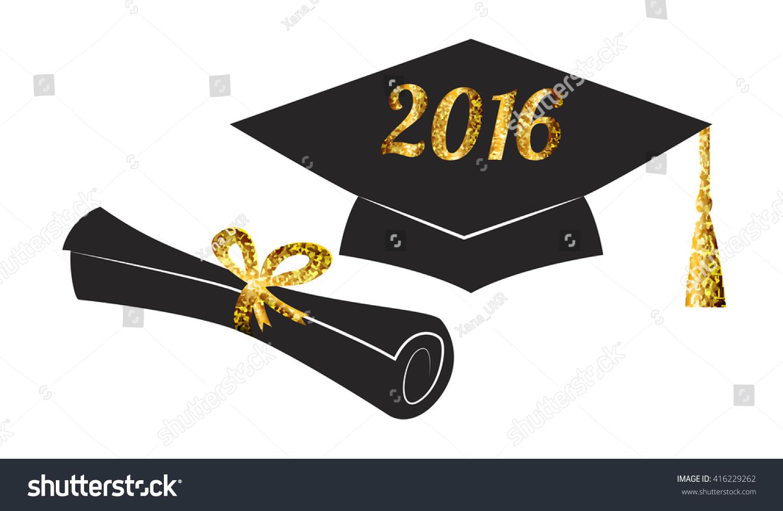 Graduation Hat Cap Diploma Graduate 2016 Stock Vector 416229262 ...
