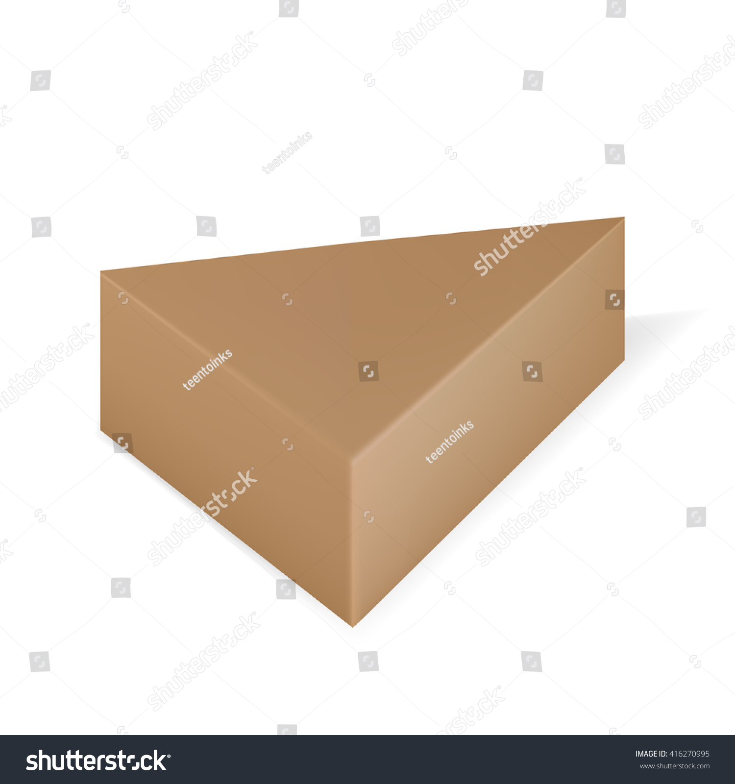 Vector Packaging Brown Triangle Packaging Box Stock Vector Royalty