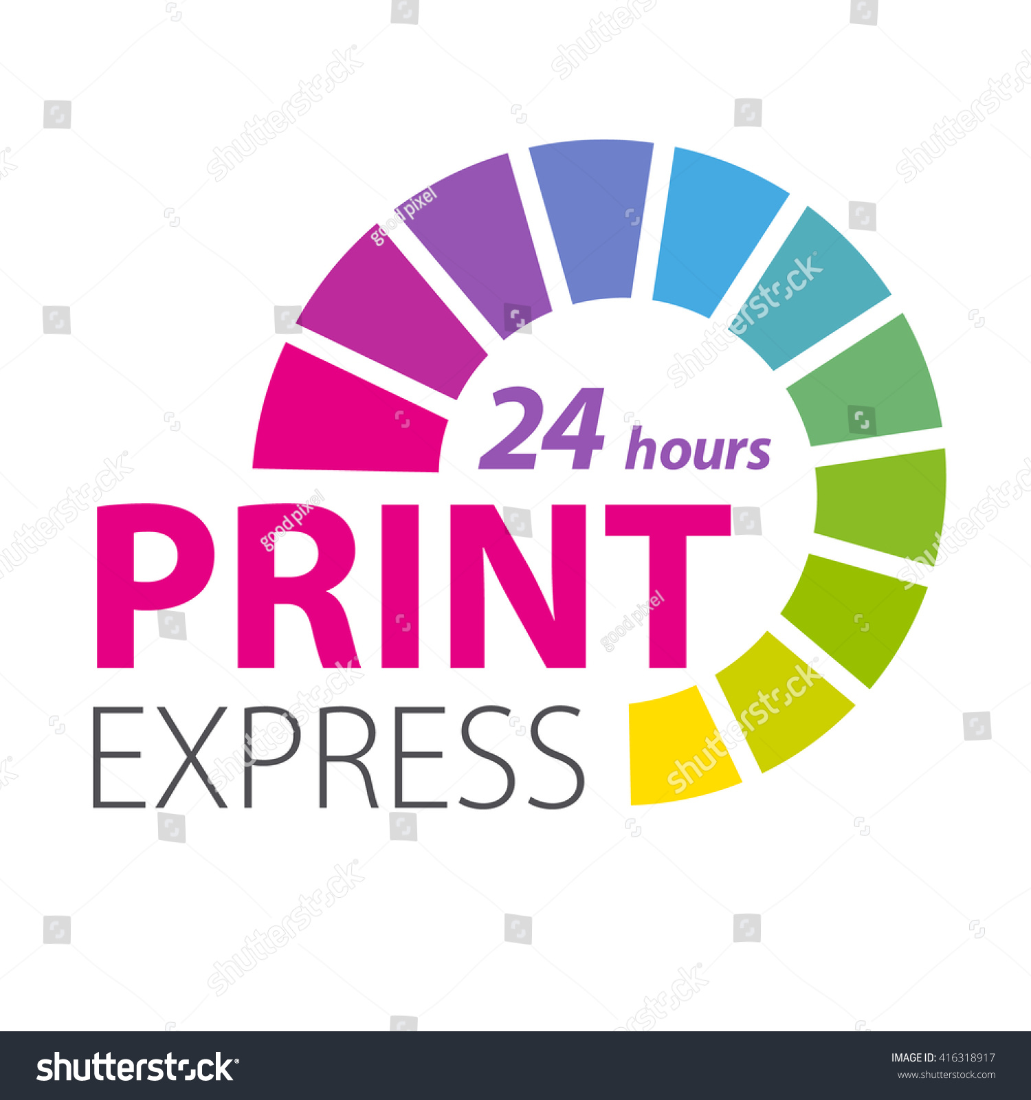 Color Scale Printing Services Express Print Stock Vector (Royalty ...