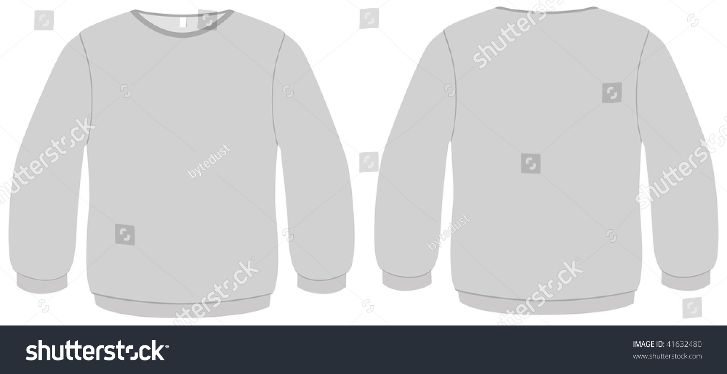 template vector illustration of a blank basic sweater all objects and