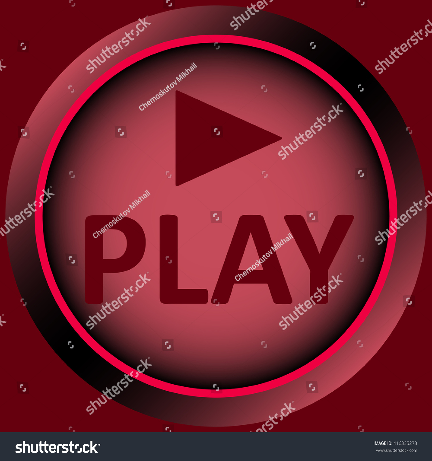 Icon Red Play Symbol Stock Vector 416335273 Shutterstock