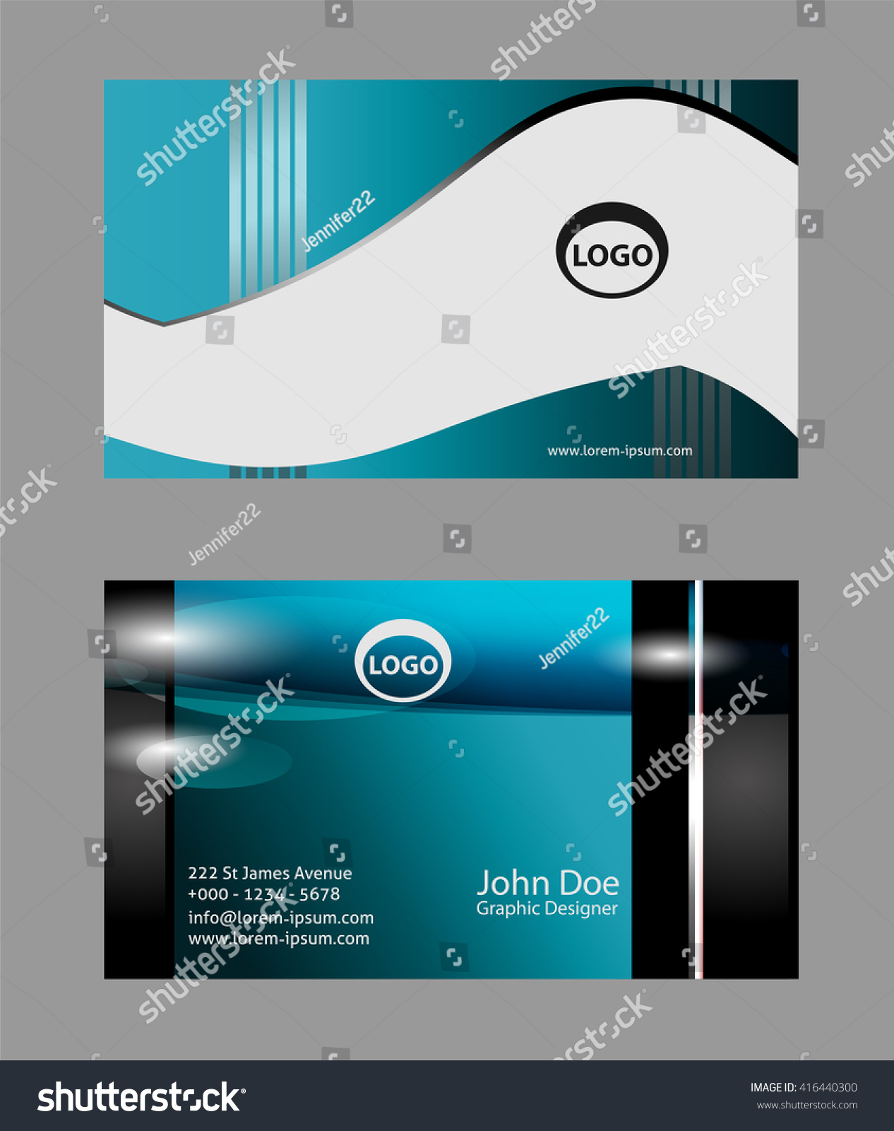 business card template vector design editable stock vector