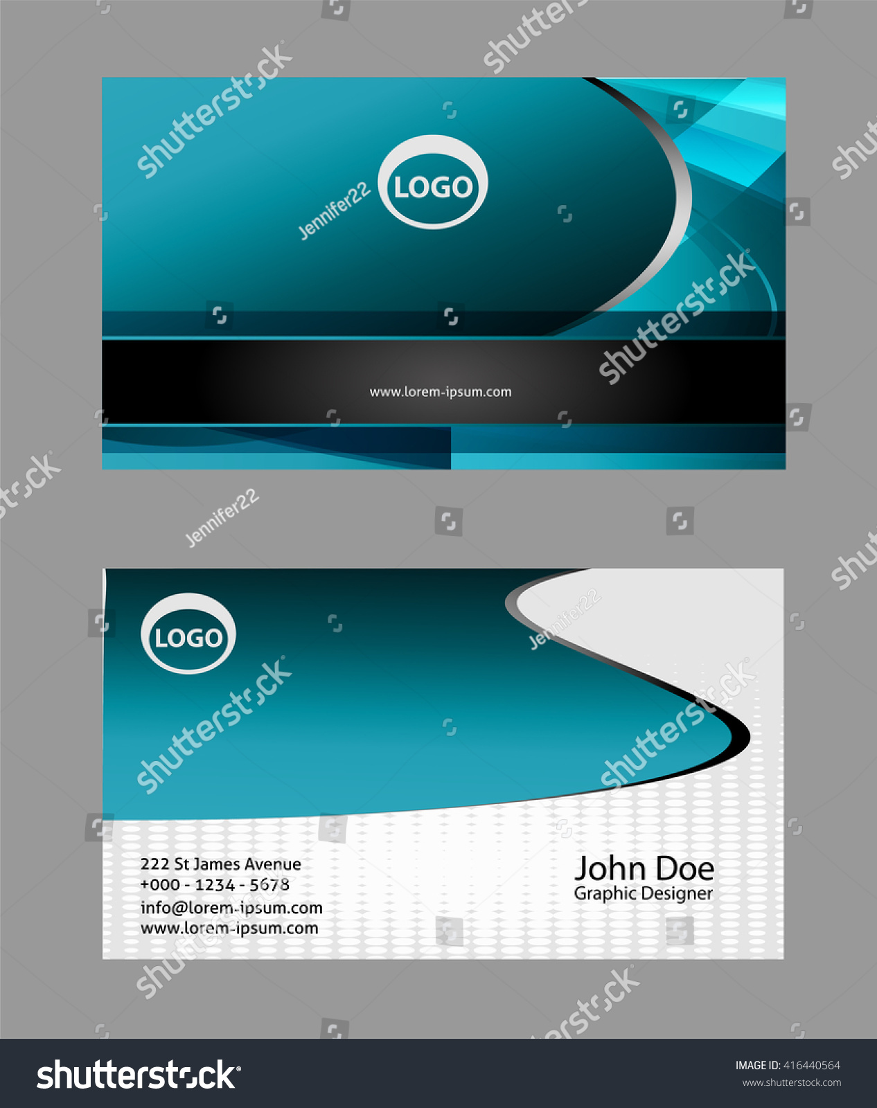 Modern Simple Luxury Standard Business Card Stock Vector 416440564 ...