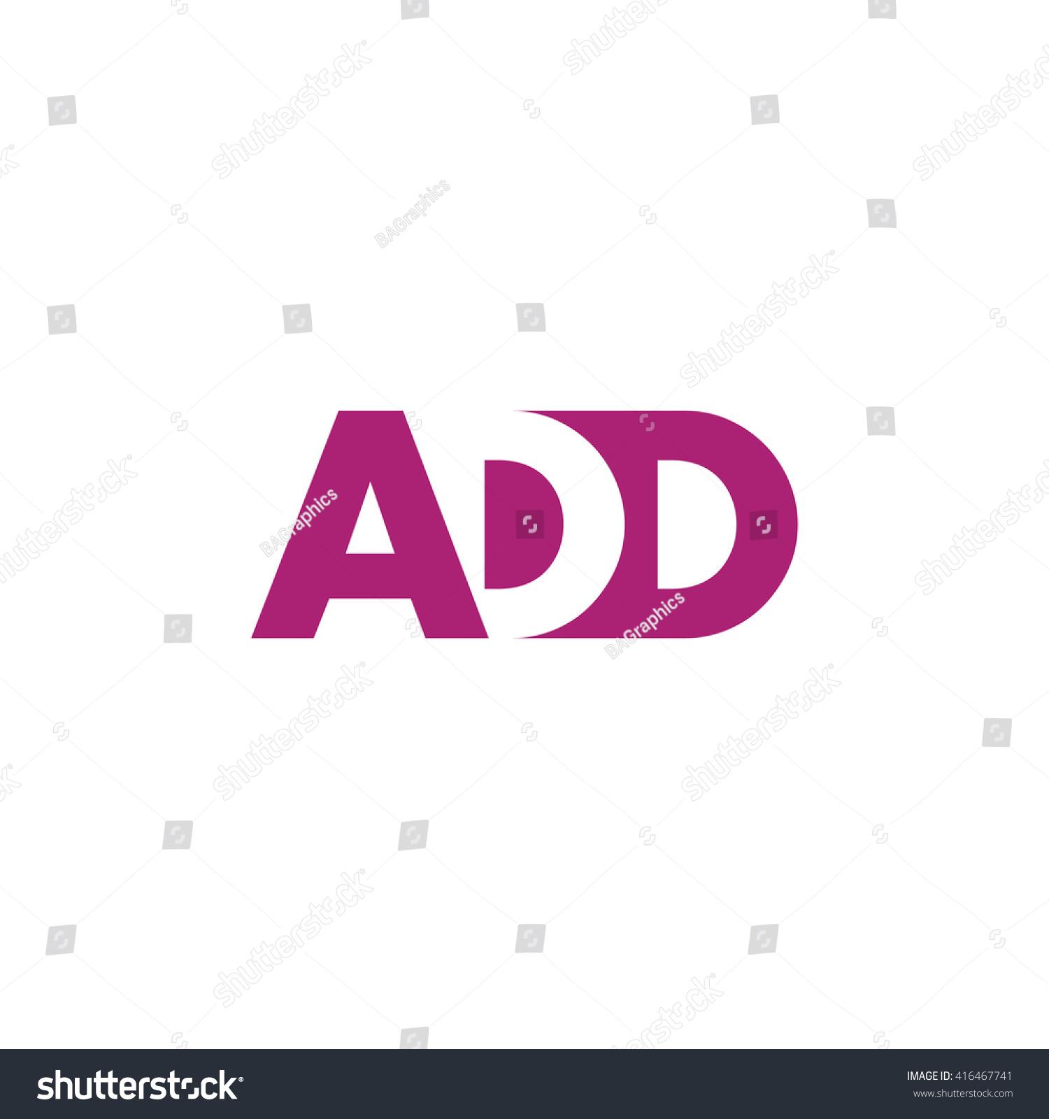 Add Logo Vector Graphic Branding Letter Stock Vector