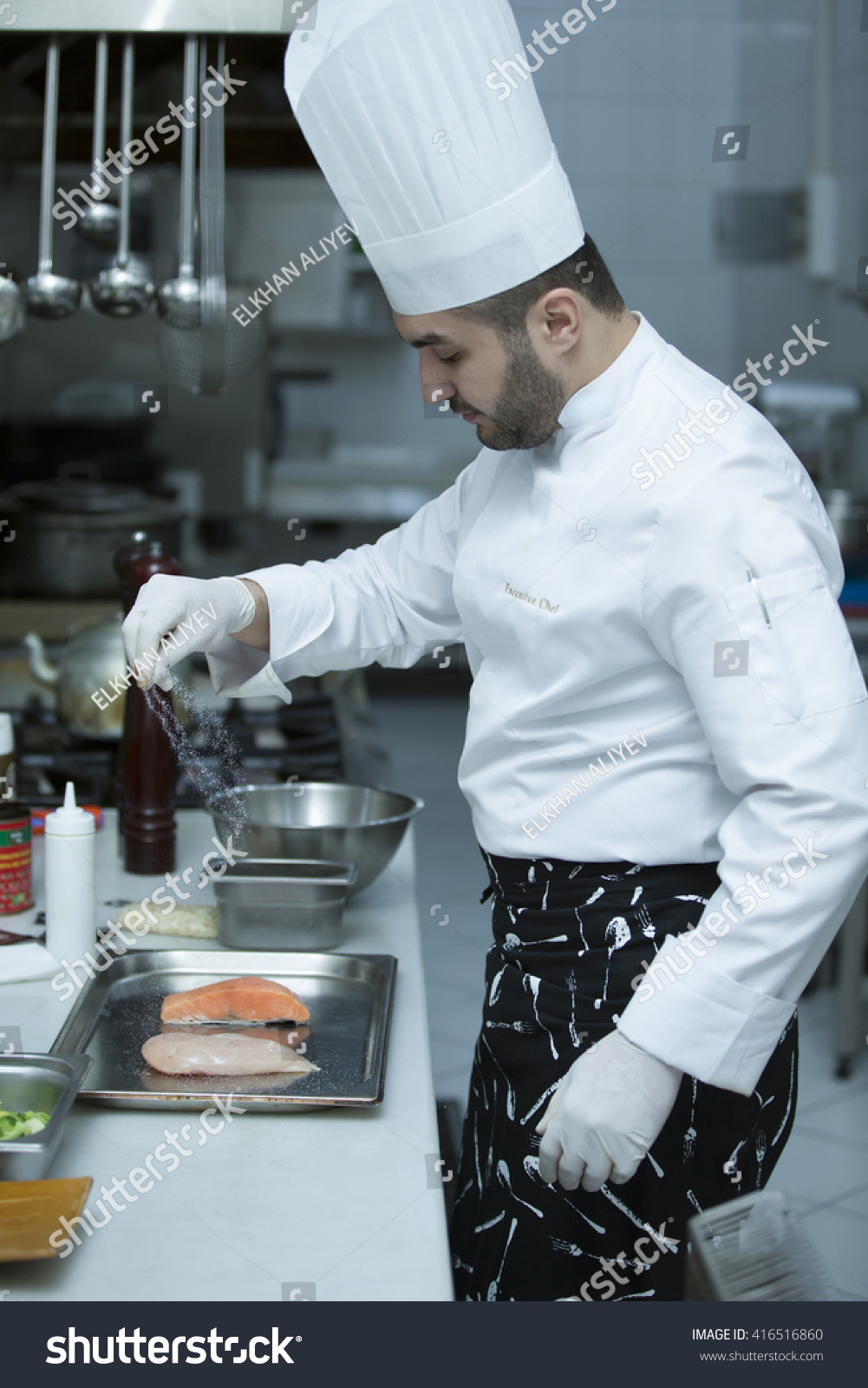 Chefc Cooking Executive Chef Cooking Restaurant Stock Photo (Royalty ...