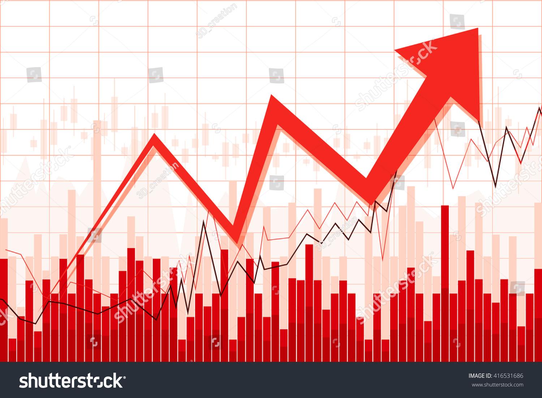 Growth Chart Great Topics Like Finance Stock Illustration 416531686