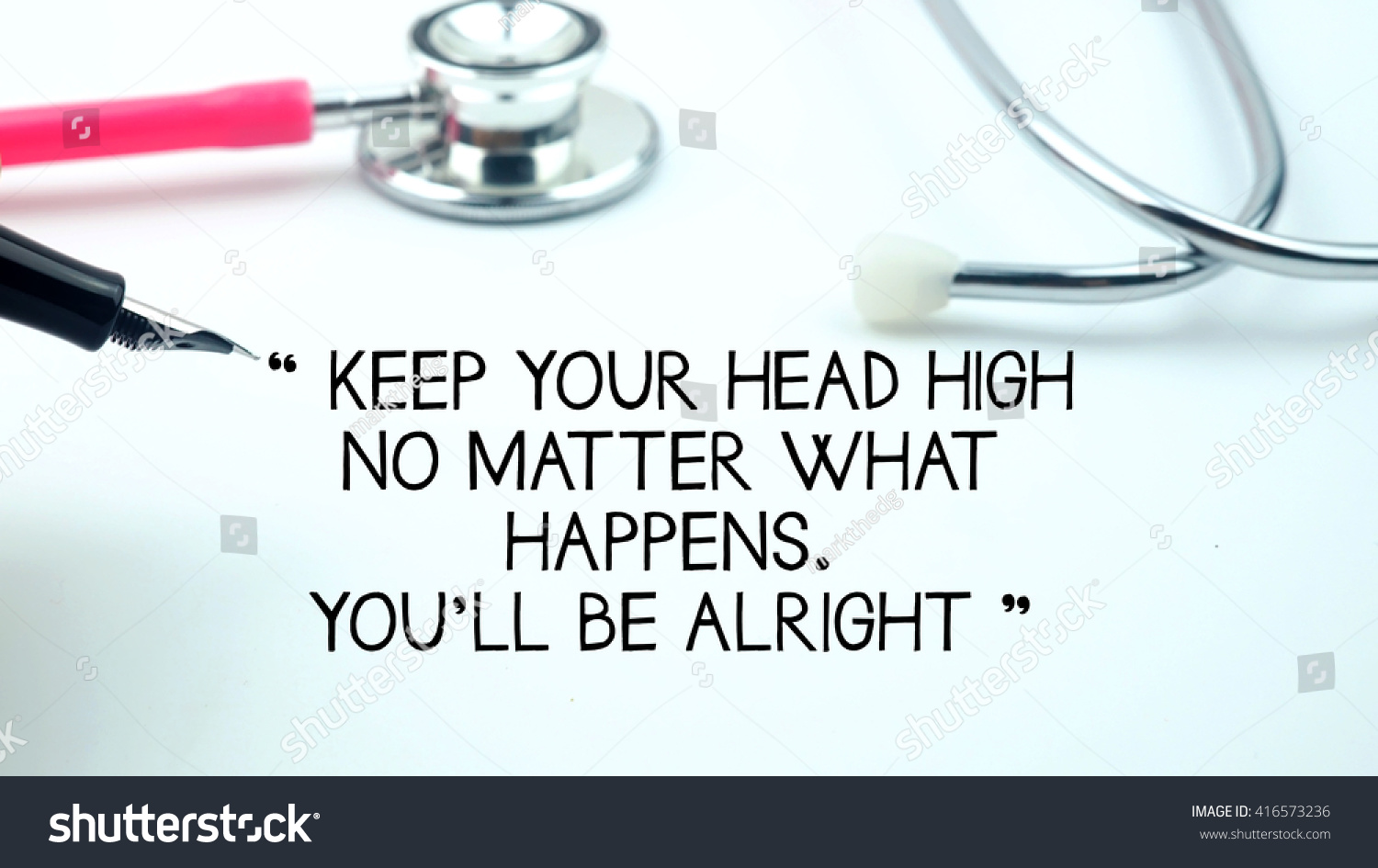Medical Quotes Said Keep Your Head Stock Photo Edit Now 416573236