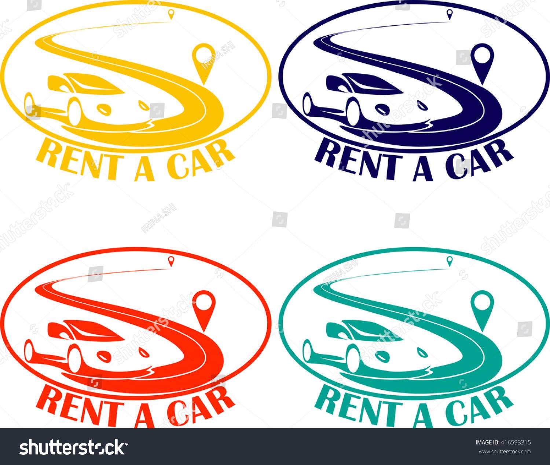 Rent car logo vector car rentals vectores en stock for Car rental logo samples