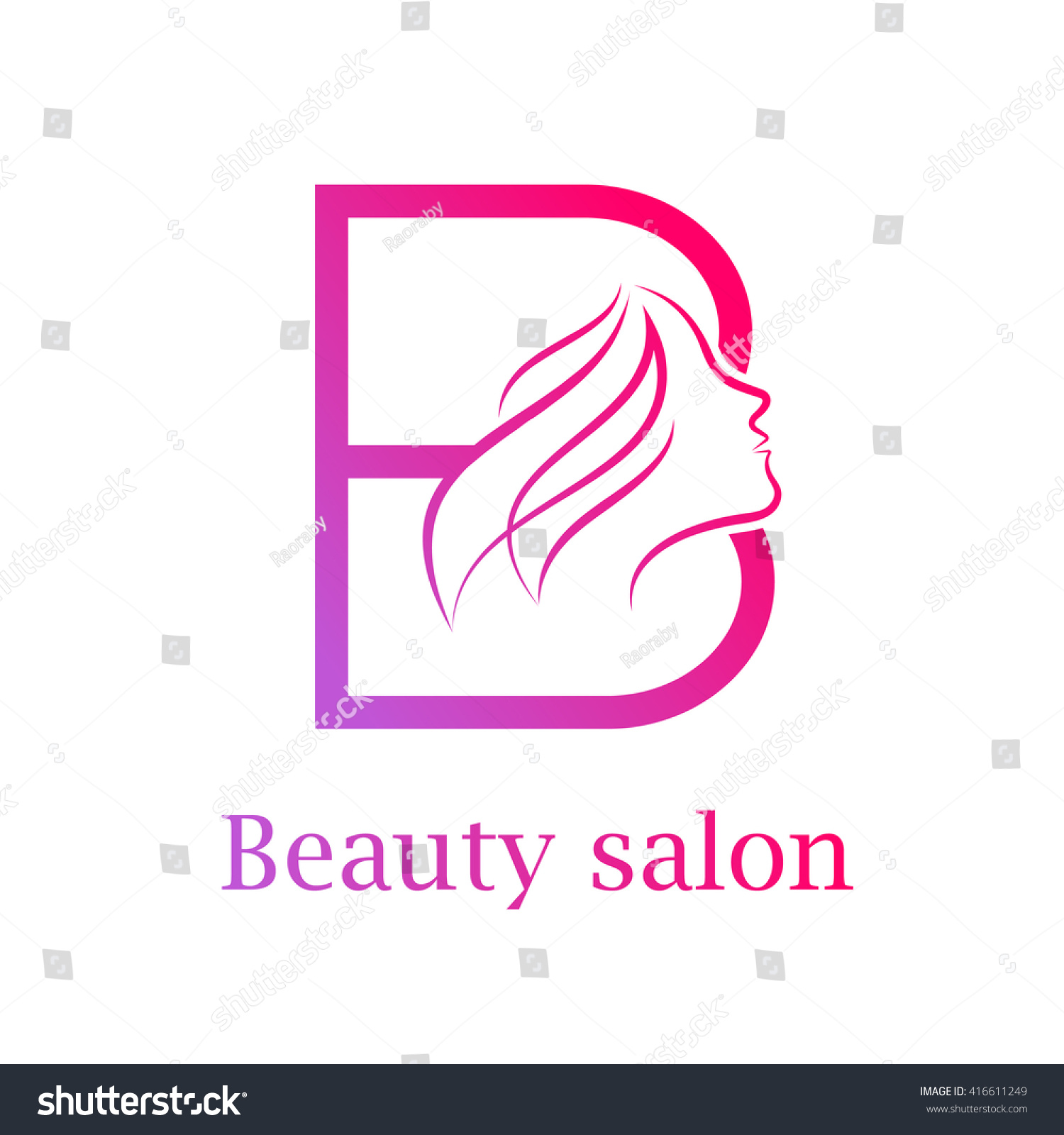 Abstract letter b logobeauty salon logo stock vector for Abstract beauty salon