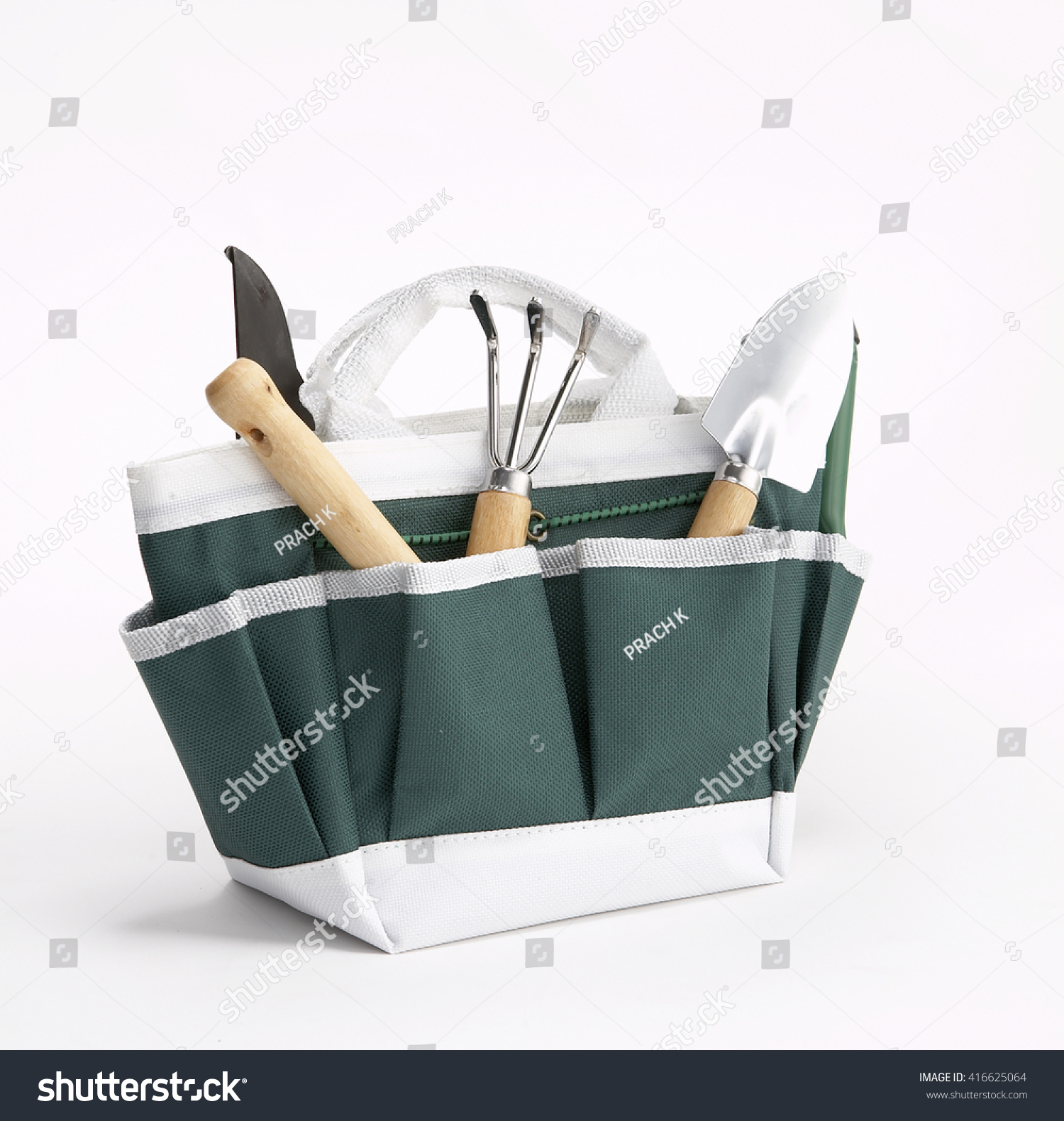 Gardening Tools Kit Bag On White Stock Photo Edit Now 416625064
