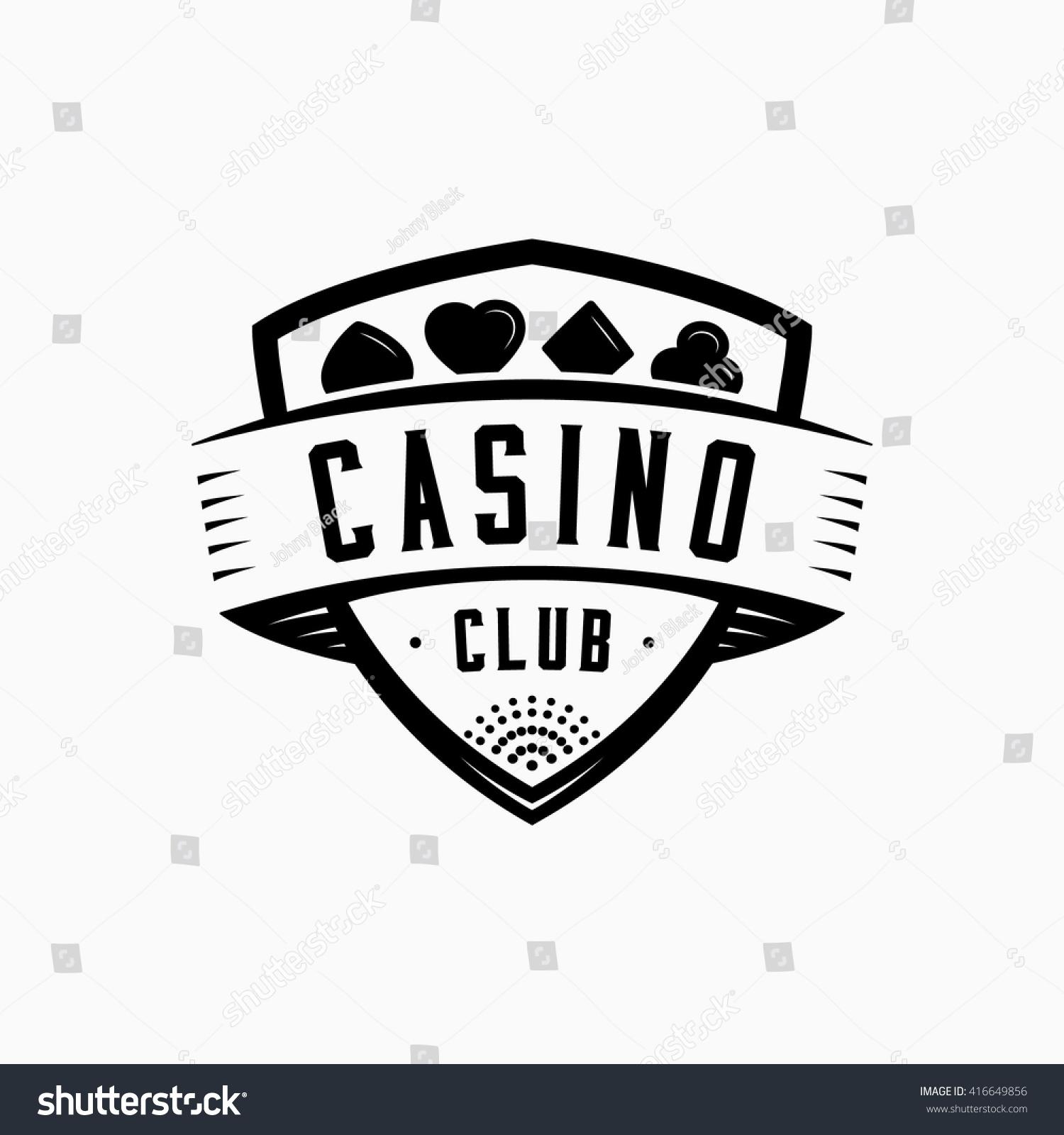 Casino Logo Vector Illustration Casino Shield Stock Vector Royalty