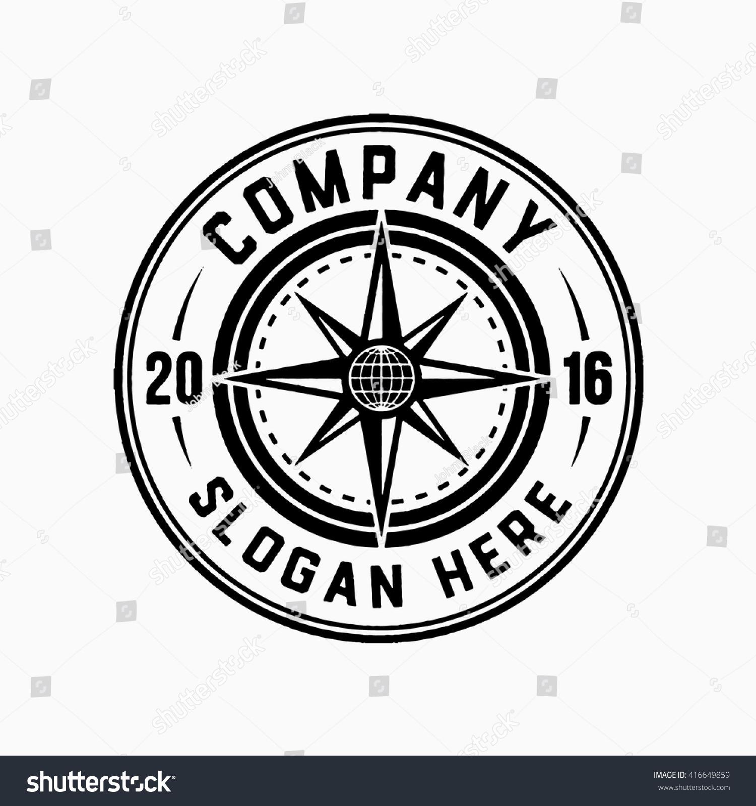 compass logo vector illustration stock vector 416649859