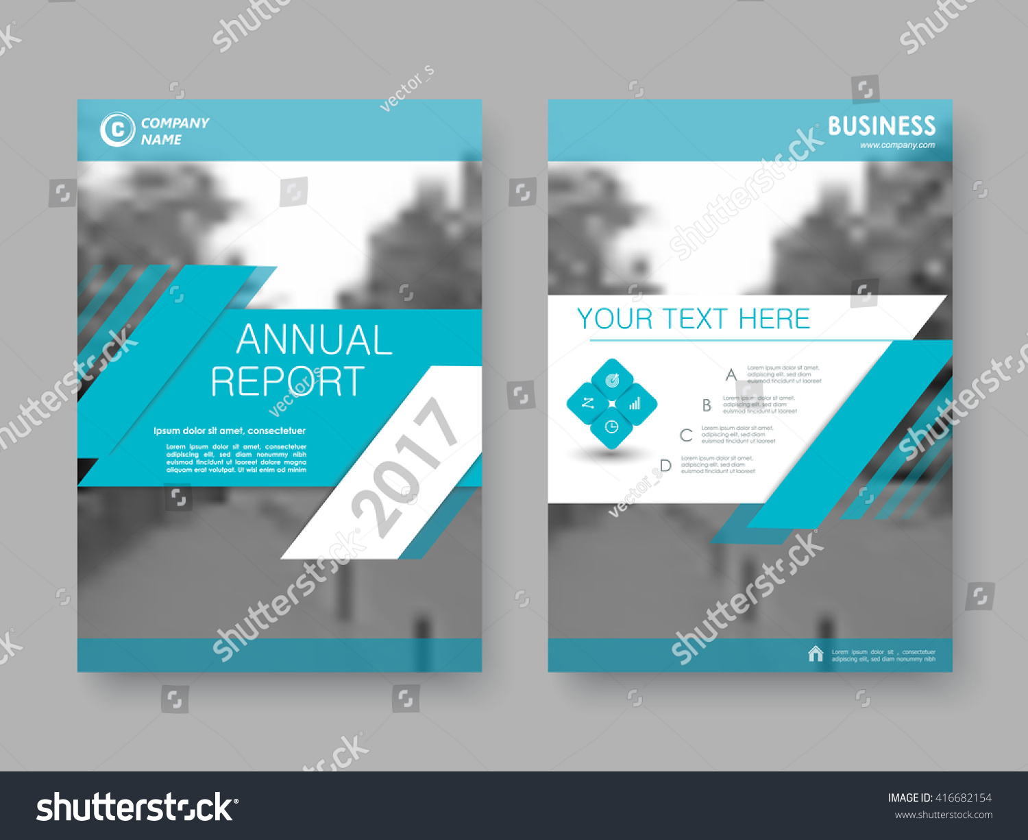 annual report flyer brochure front page のベクター画像素材
