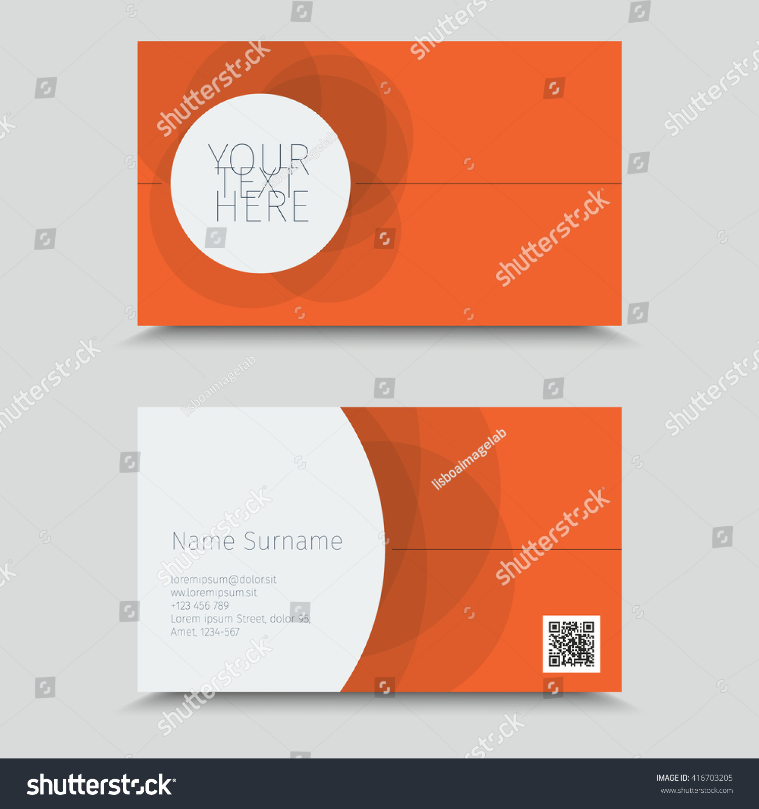 Visit Card QR Code Business Card Stock Vector 416703205 - Shutterstock
