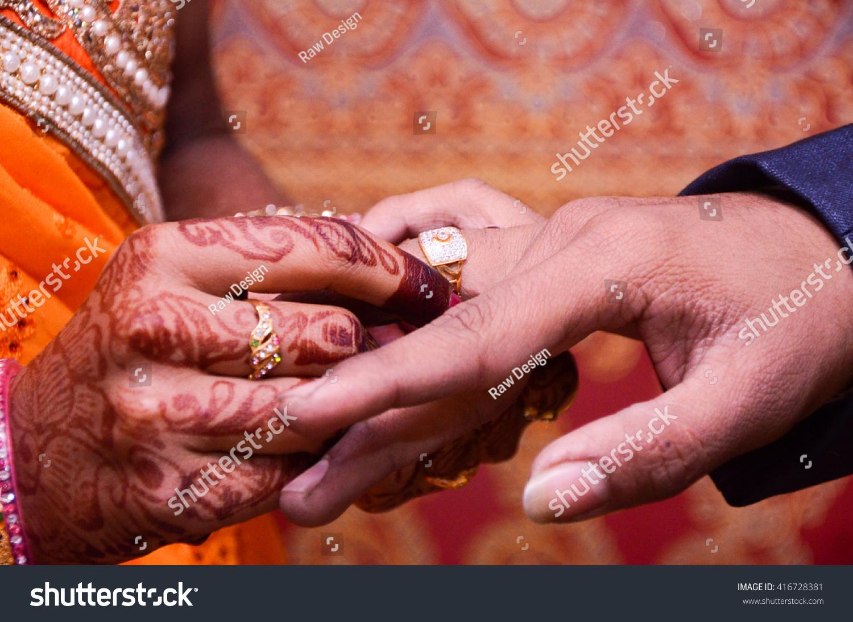 Groom Wearing Wedding Ring His Bride Stock Photo (Edit Now ...