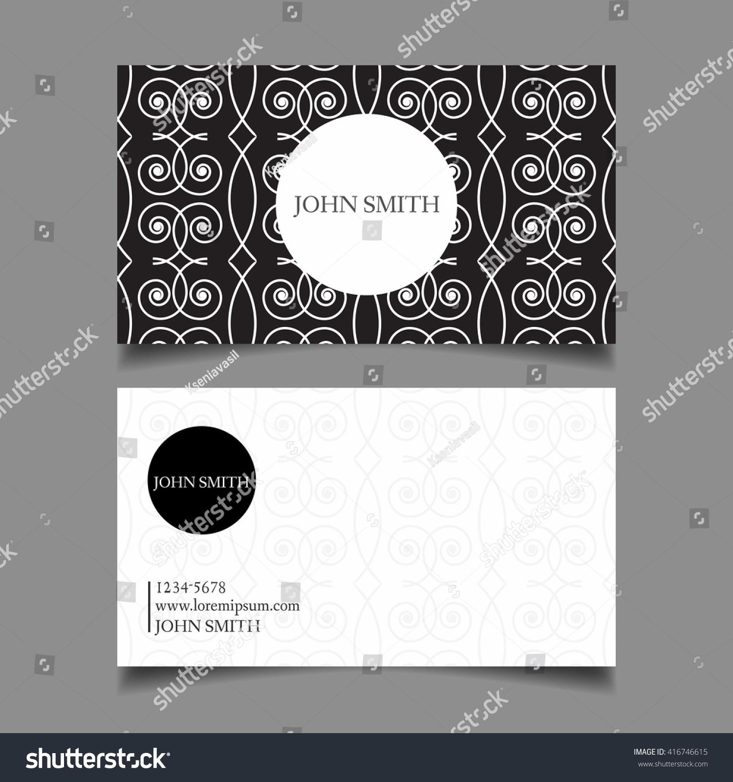 Business Card Template Editable Neat Design Stock Vector (2018 ...
