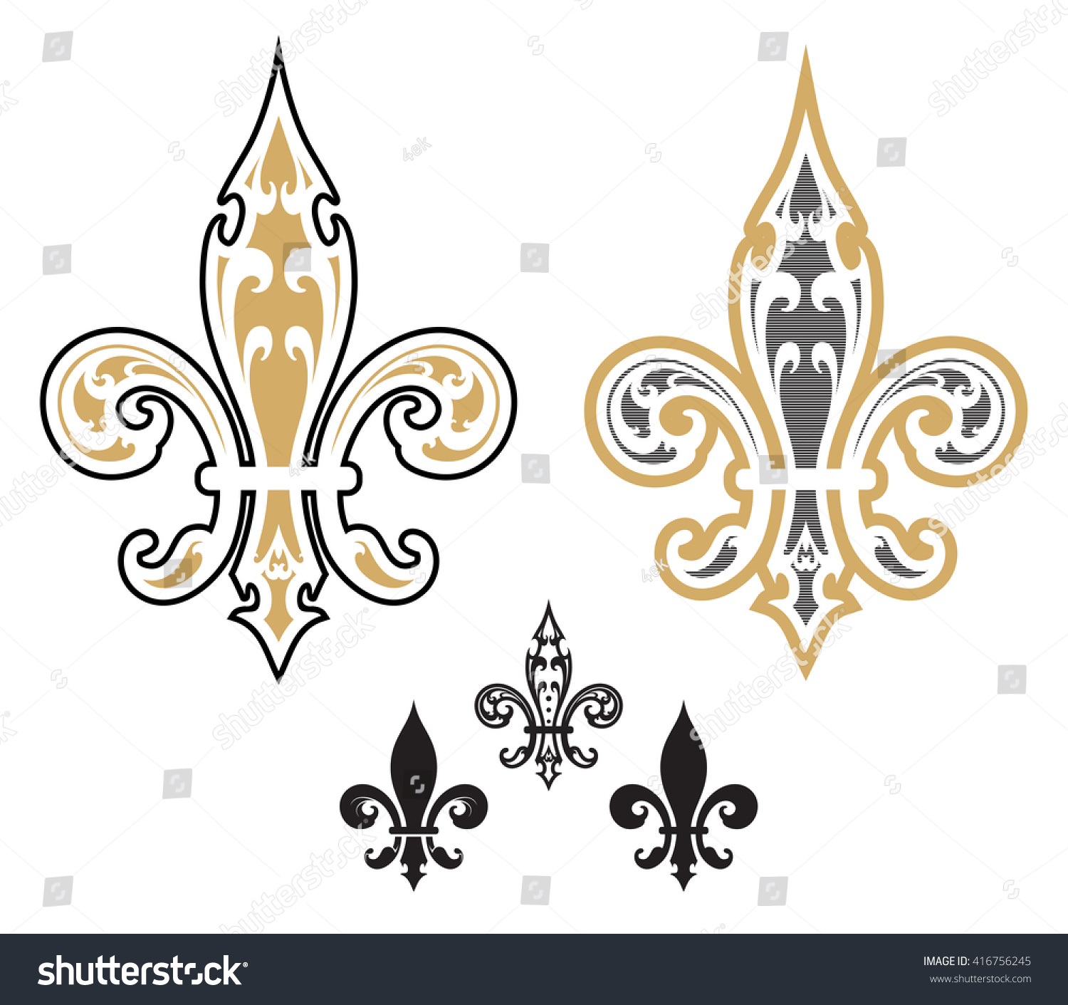 fleur de list designs illustration stock vector 416756245. Black Bedroom Furniture Sets. Home Design Ideas