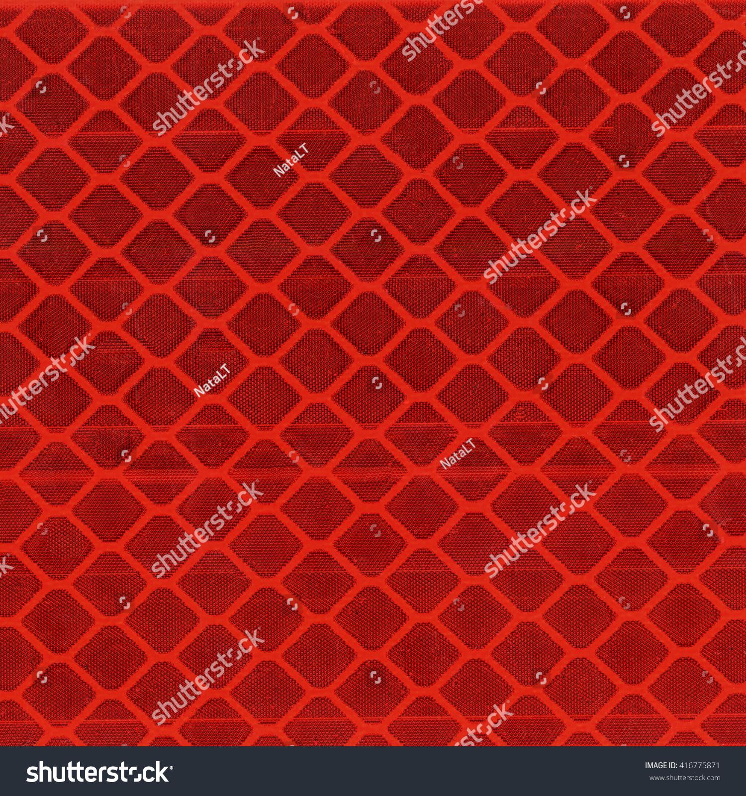 Red Light Reflector Texture Closeup