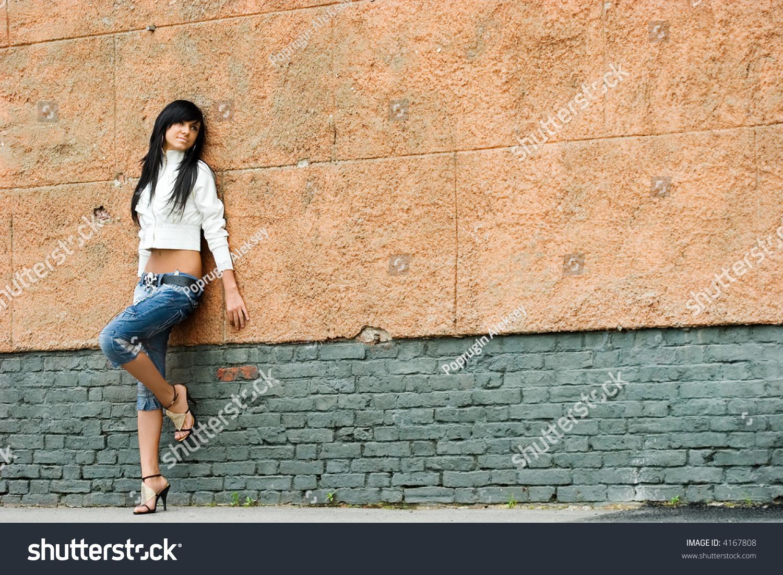Sad Pretty Girl Standing Alone Near Stock Photo 4167808 - Shutterstock-5073