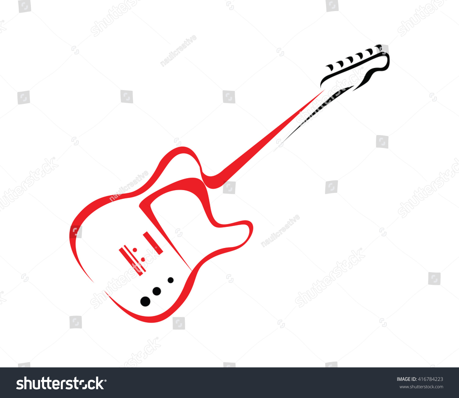 Modern Music Logo: Modern Music Logo Guitar Competition Symbol Stock Vector