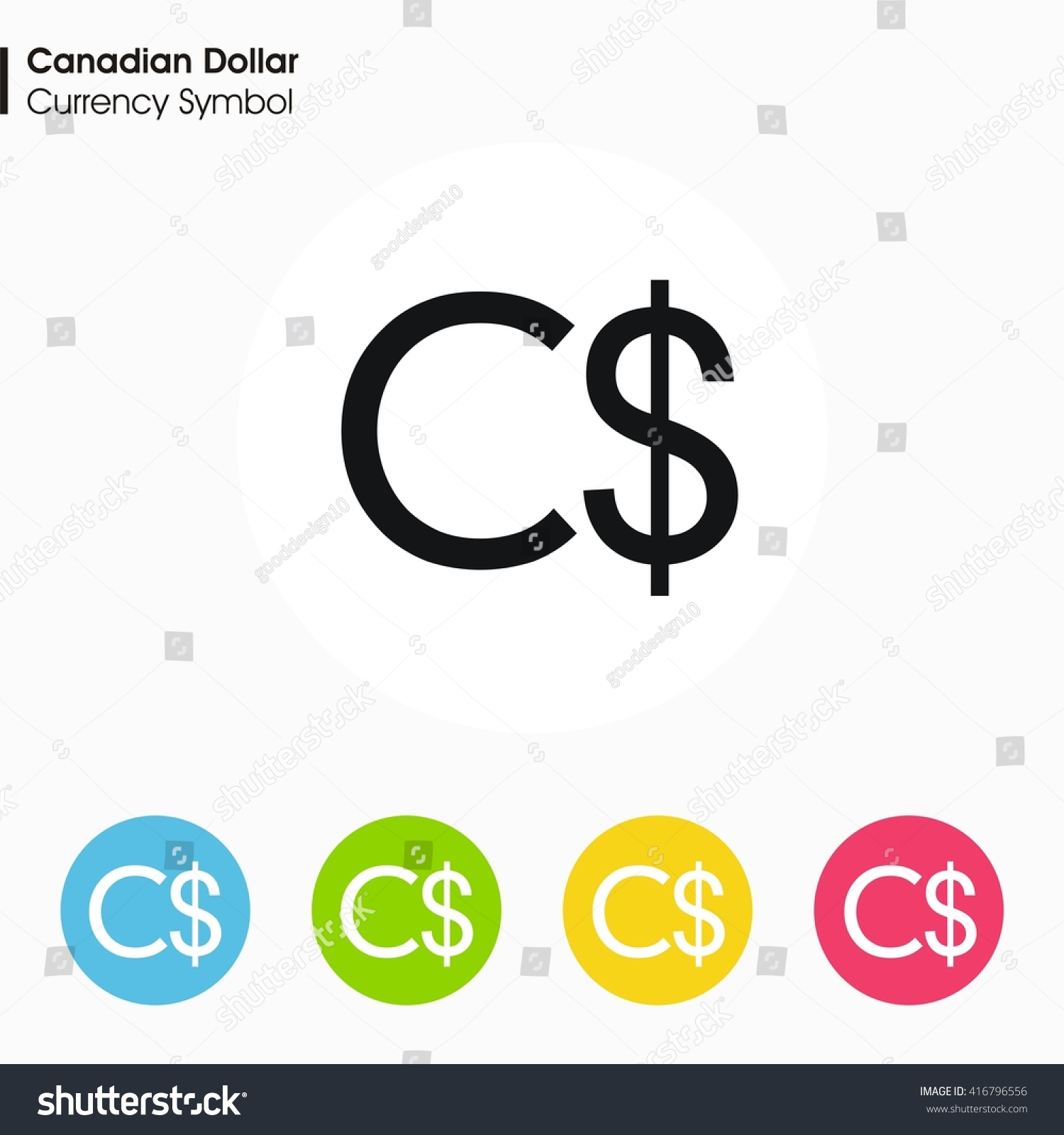 Canadian Dollar Sign Icon Money Symbol Vector Stock Vector Royalty