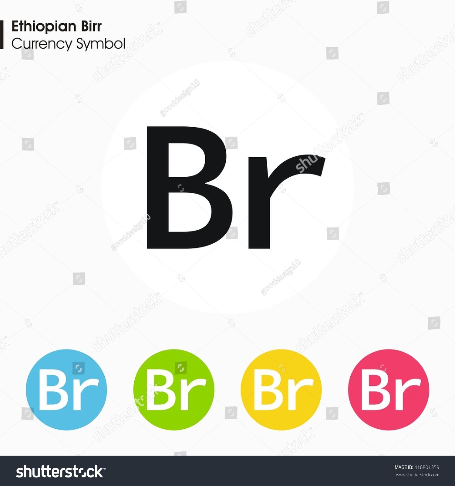 Ethiopian Birr Sign Icon Money Symbol Vector Stock Vector Royalty
