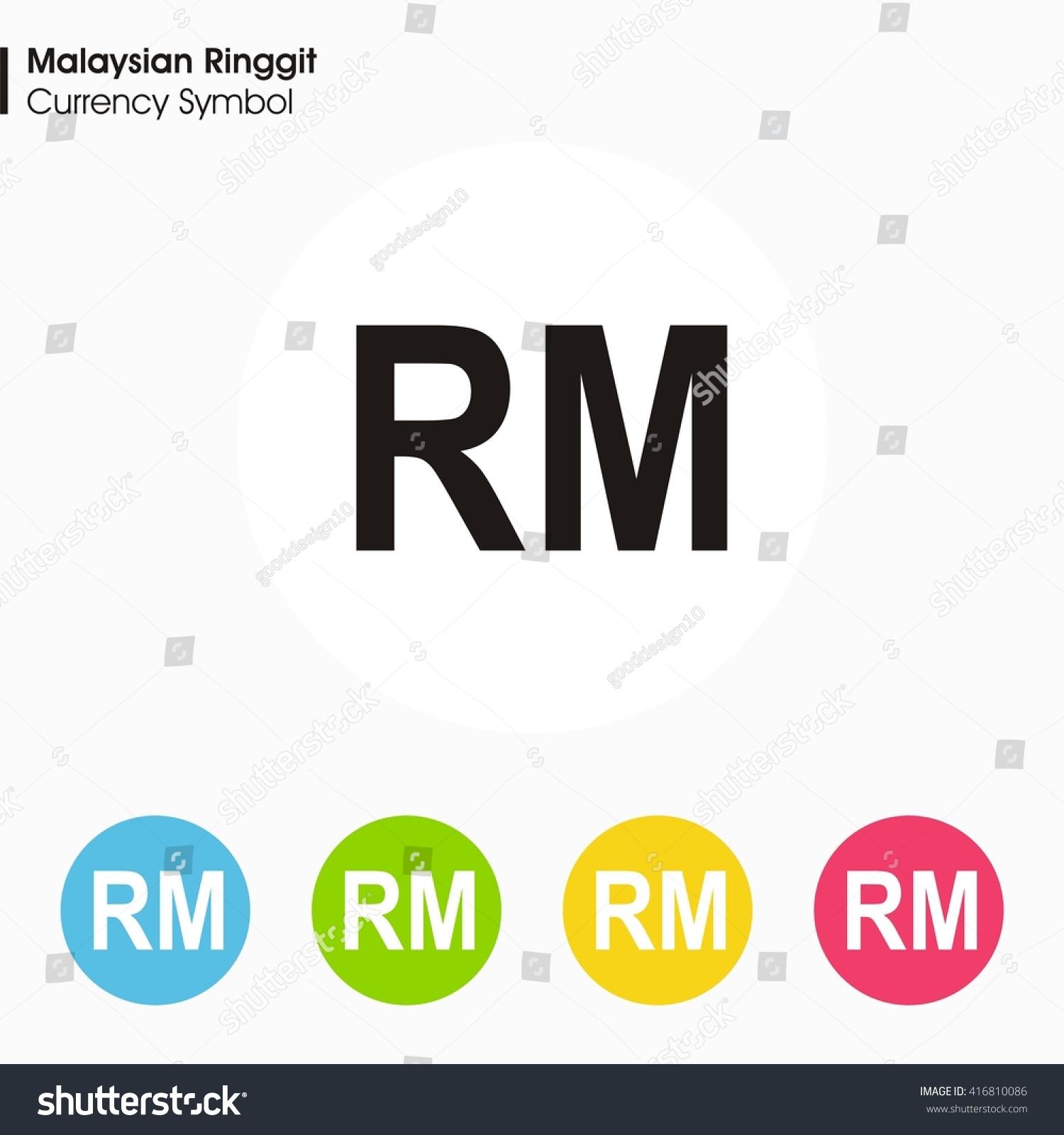 Malaysian Ringgit Sign Icon Money Symbol Vector Stock Vector
