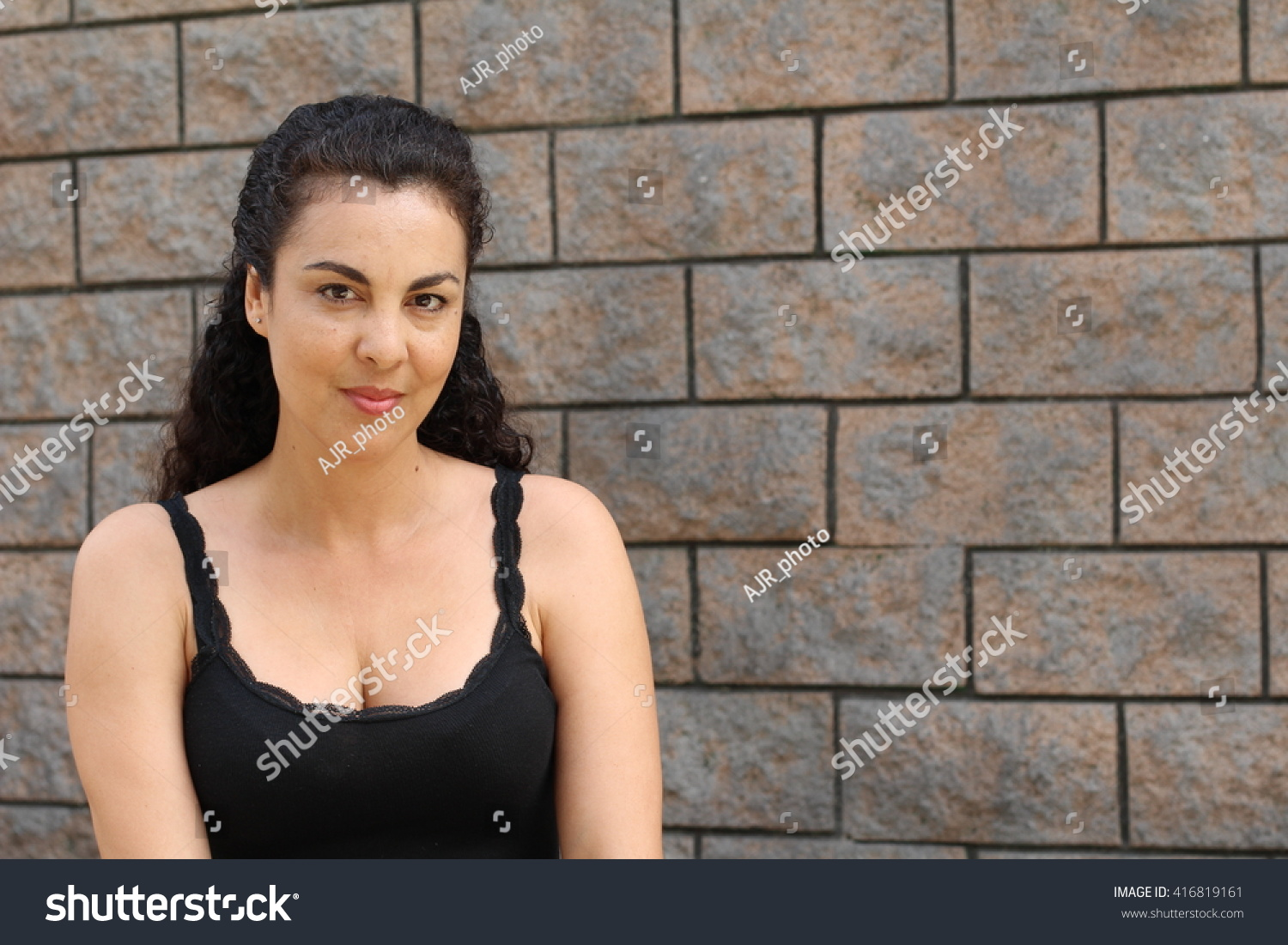 Sexy Dressed Mature Woman On Textured Stock Photo 416819161 - Shutterstock-8684