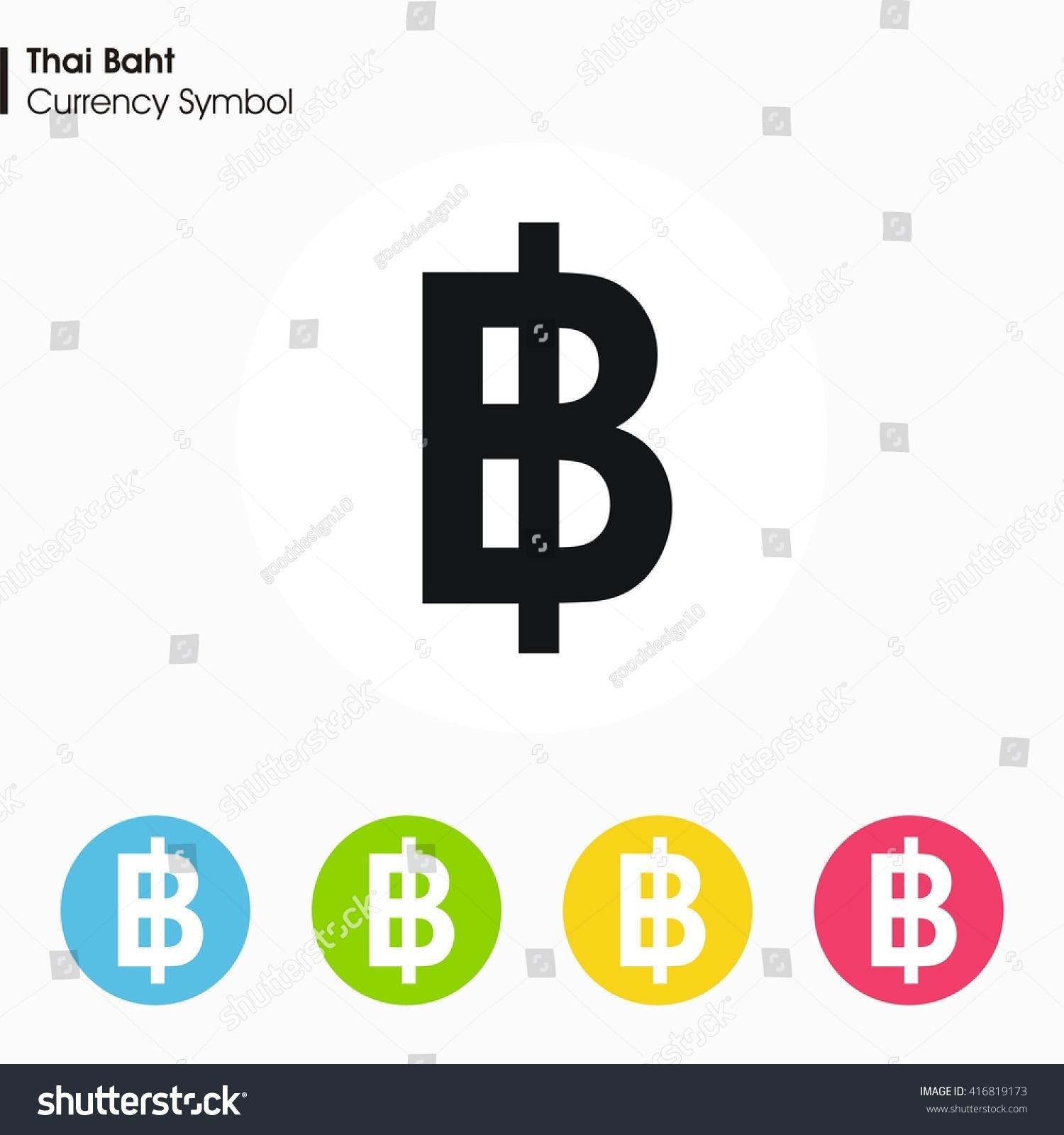 Thai Baht Sign Icon Money Symbol Vector Stock Vector Royalty Free