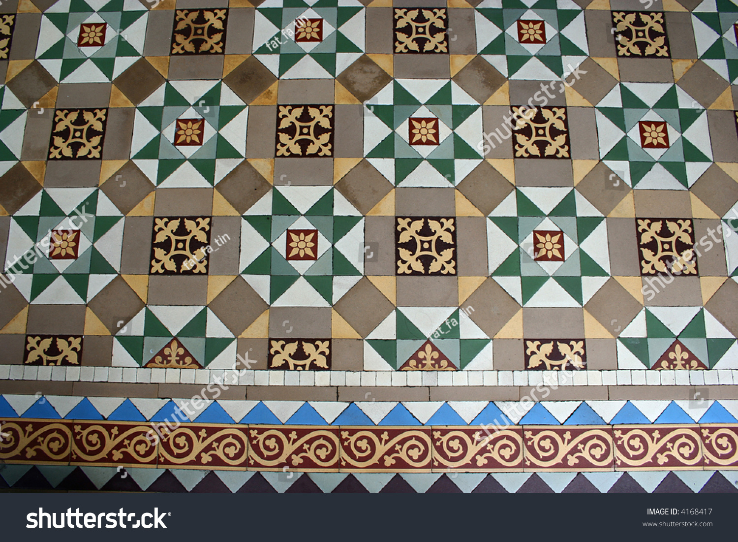 Old vintage floor tiles pattern 2 stock photo 4168417 shutterstock old vintage floor tiles pattern 2 doublecrazyfo Image collections