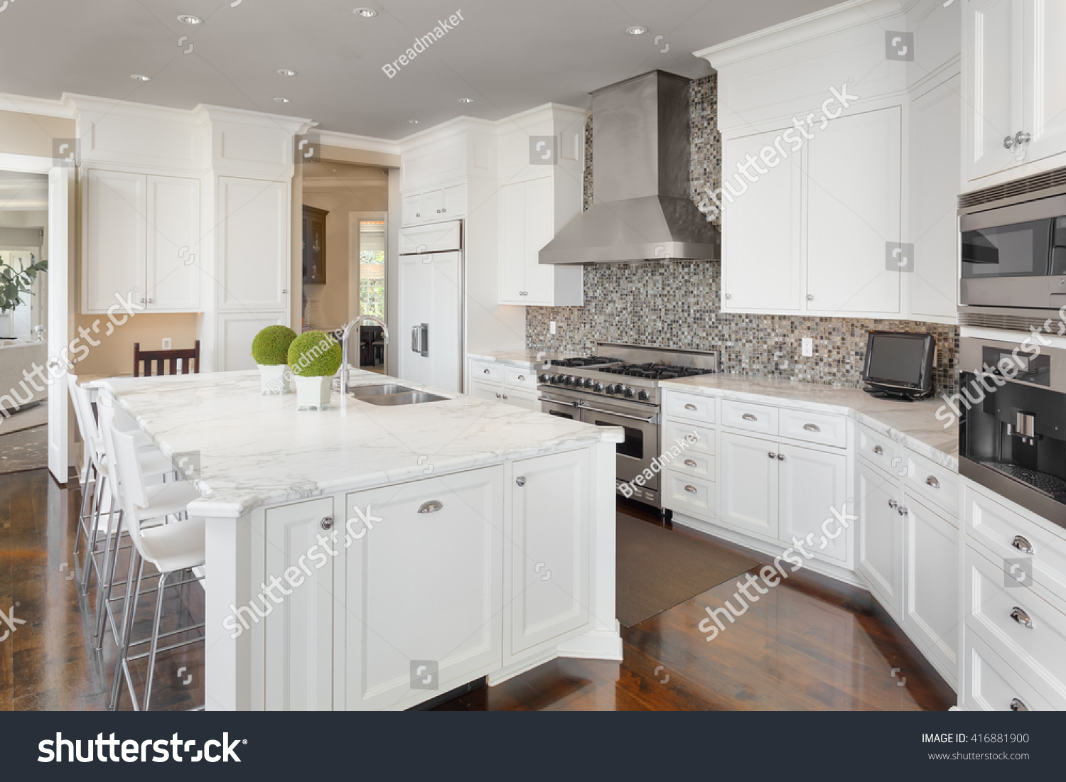 Kitchen Interior Island Sink Cabinets Oven Stock Photo 416881900  Shutterstock