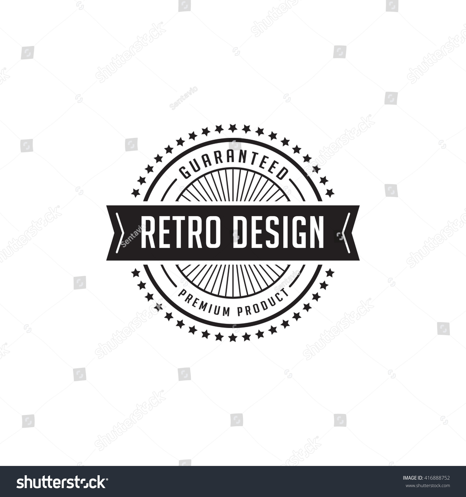vintage label badge logo design vector stock vector 416888752 shutterstock. Black Bedroom Furniture Sets. Home Design Ideas