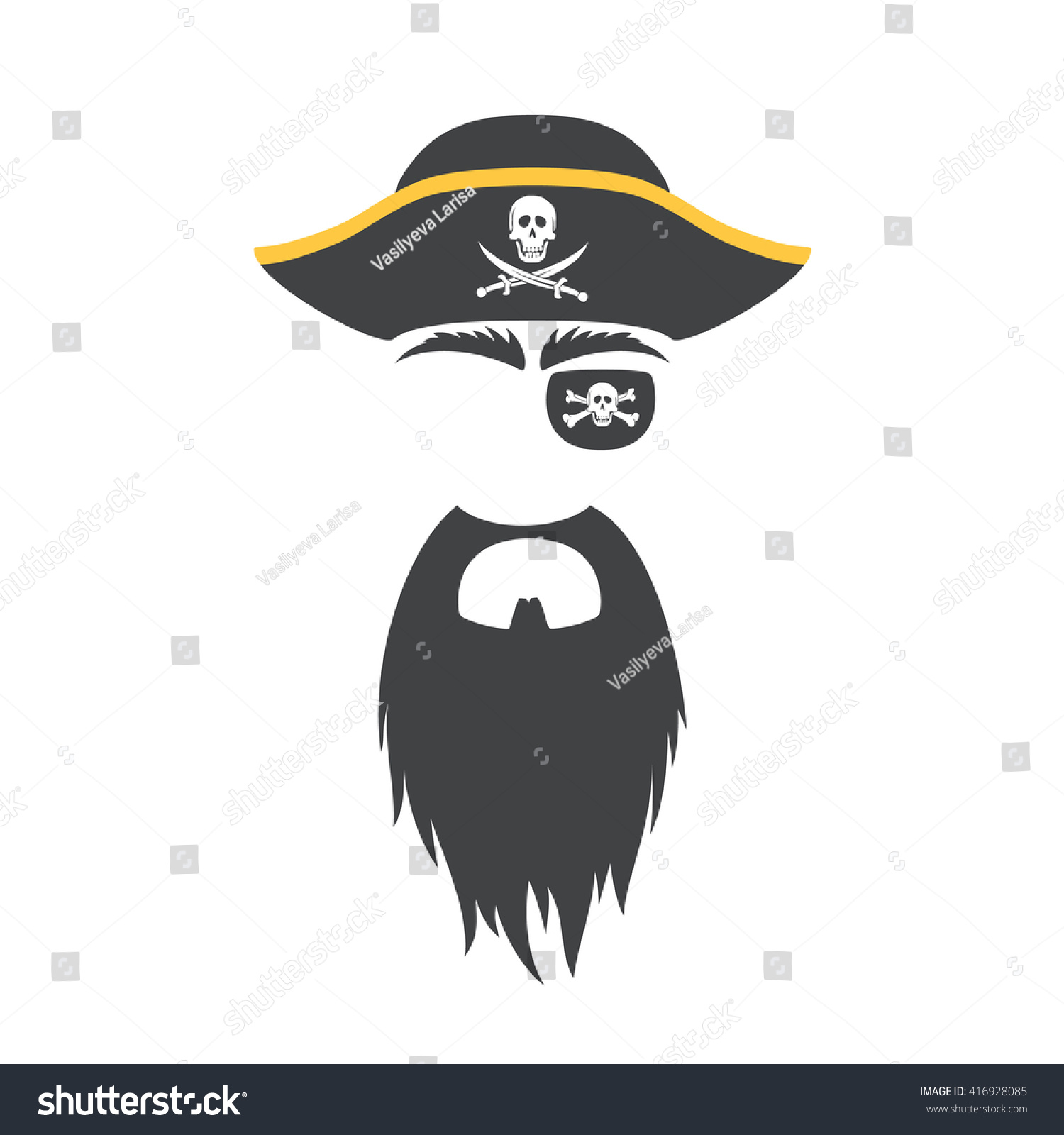 Pirate face vector - photo#23