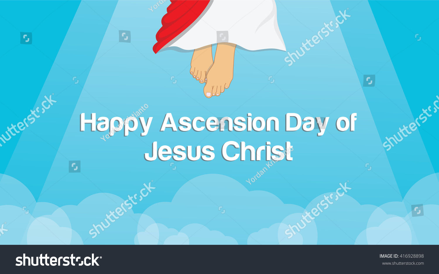 Ascension Day Jesus Christ Stock Vector Royalty Free 416928898