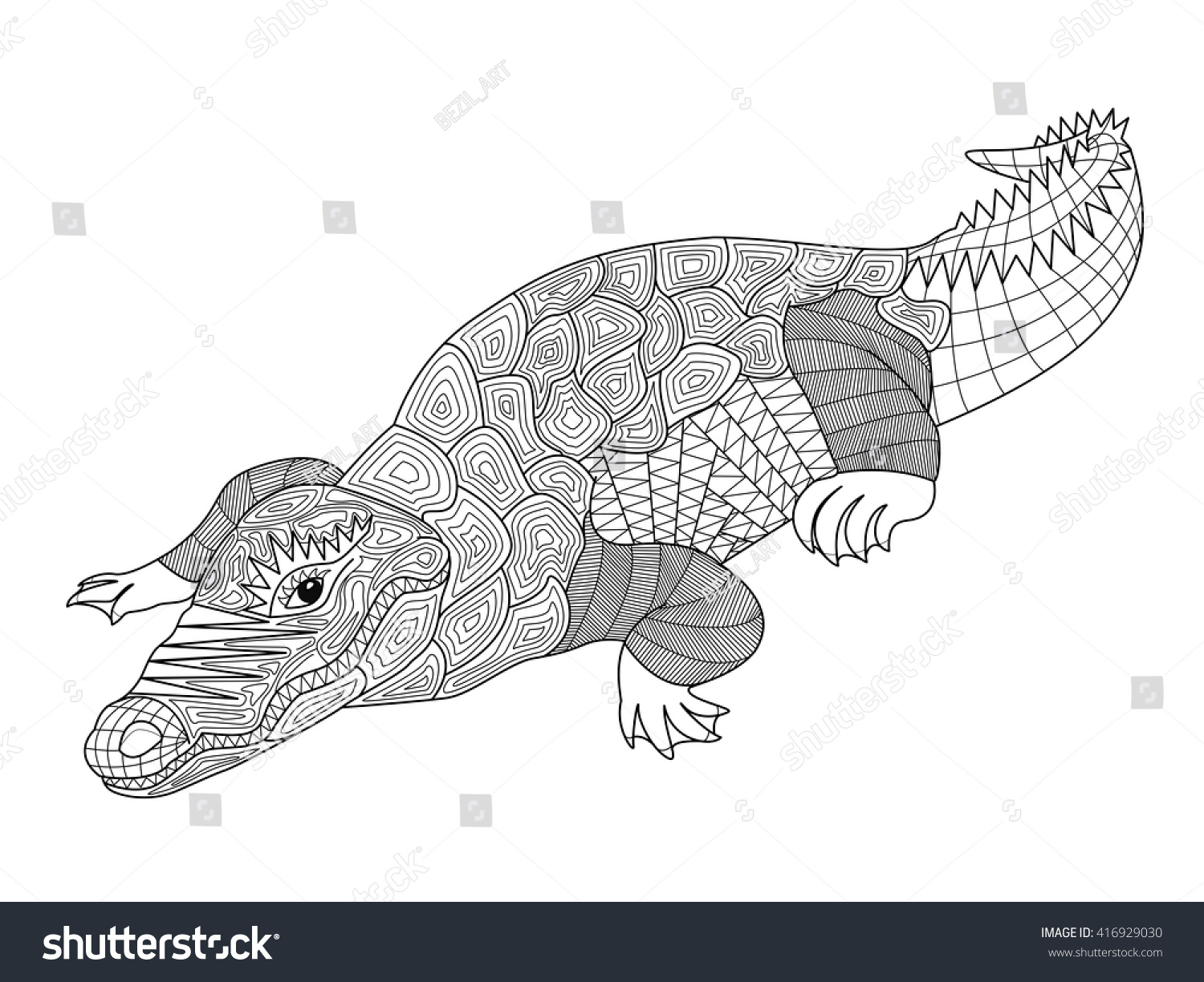 Vector The Crocodile Coloring Pages | Coloring Pages
