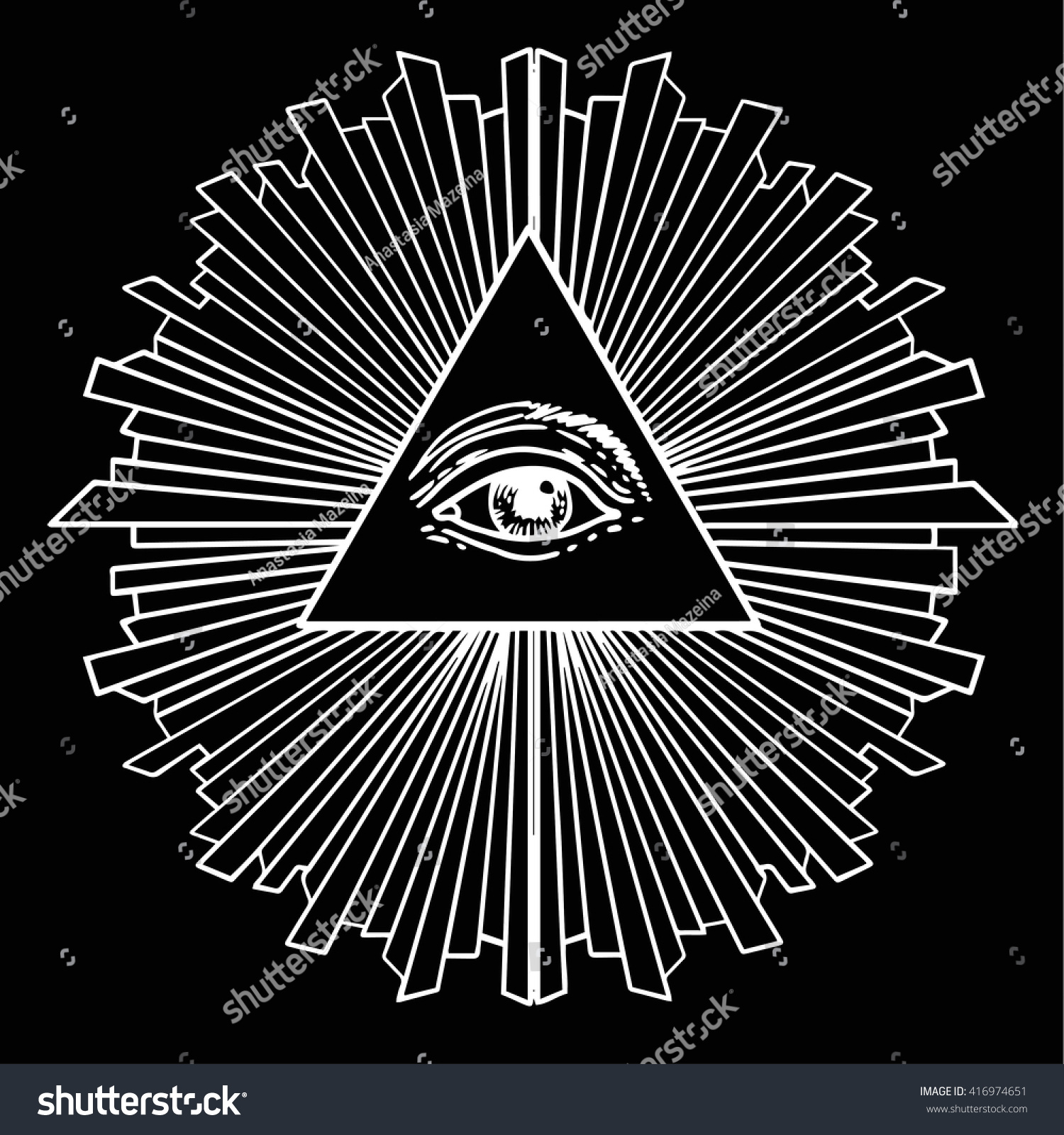 Royalty Free All Seeing Eye Inside Triangle Pyramid 416974651