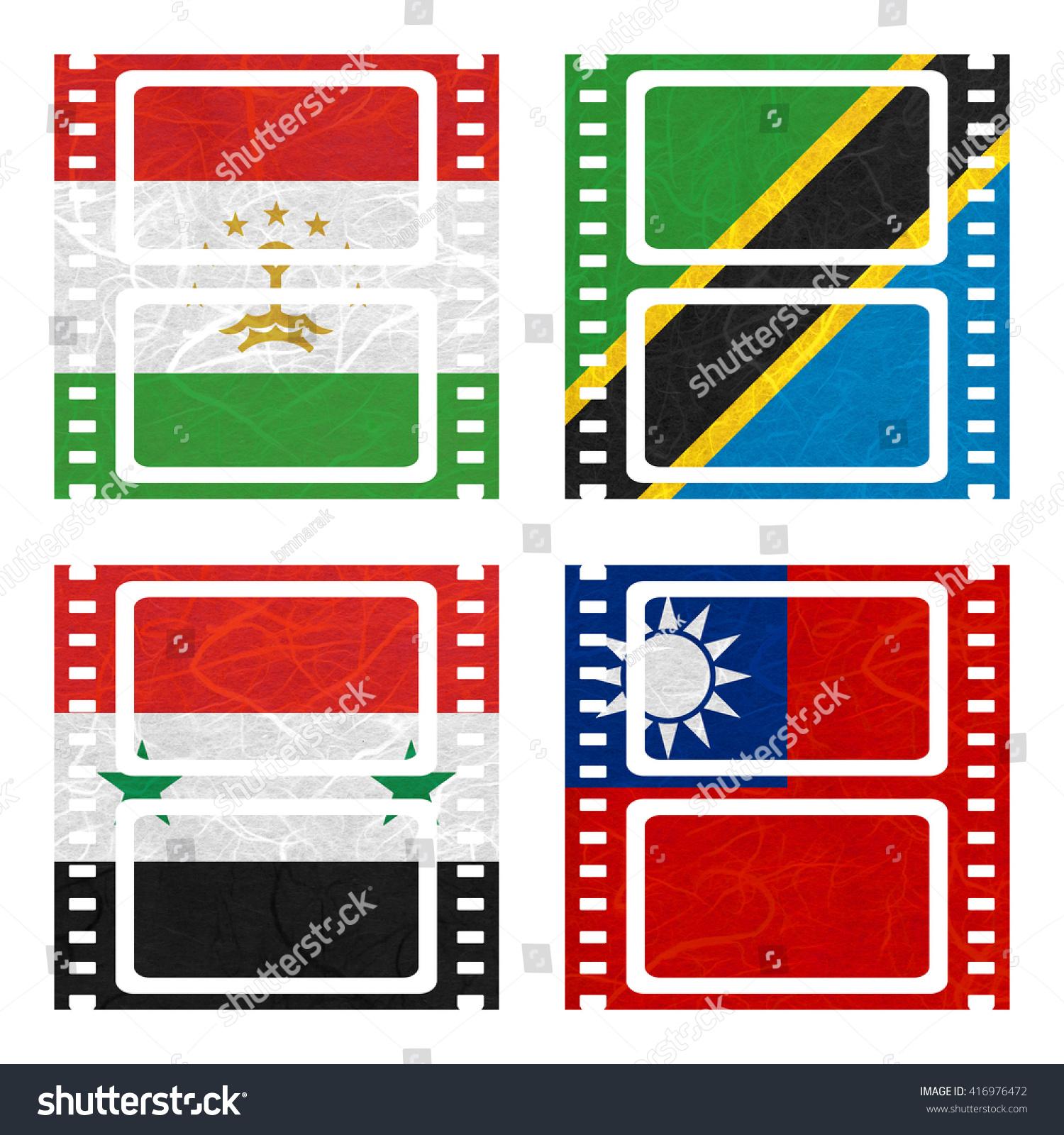 Nation flag film recycled paper on stock illustration 416976472 film recycled paper on white background syria taiwan tajikistan buycottarizona Choice Image