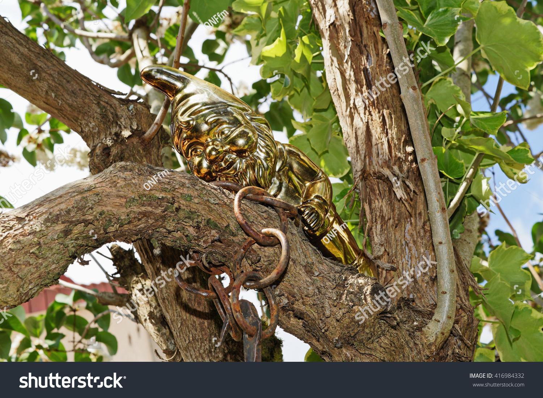 Golden Garden Gnom Stock Photo (Royalty Free) 416984332 - Shutterstock