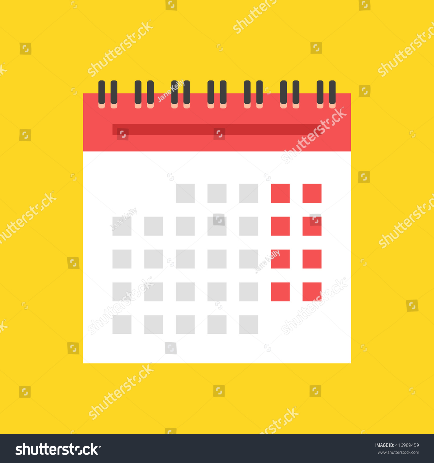 Illustration Calendar Design : Calendar flat icon european version spiral stock vector