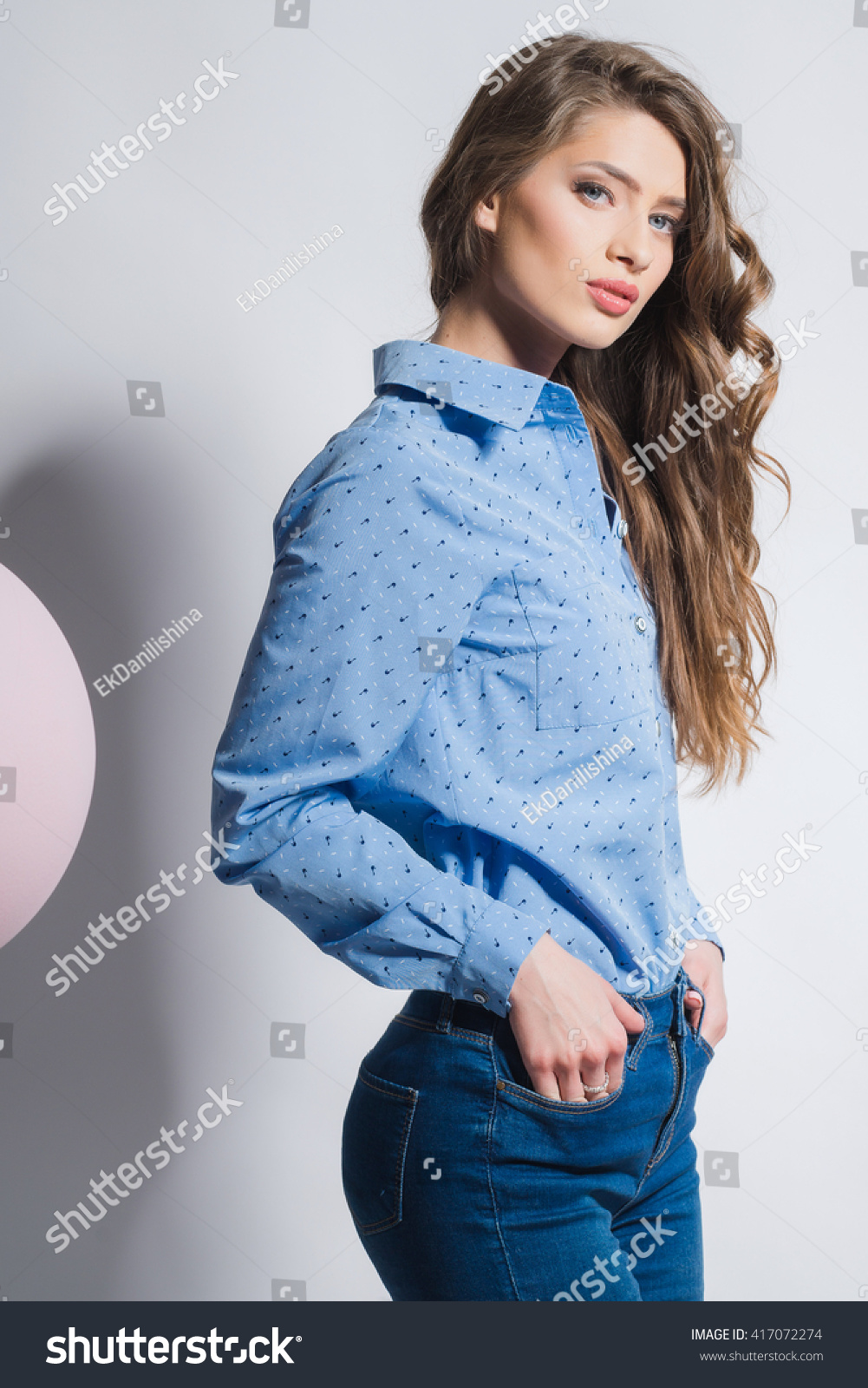 Sexy blue teen