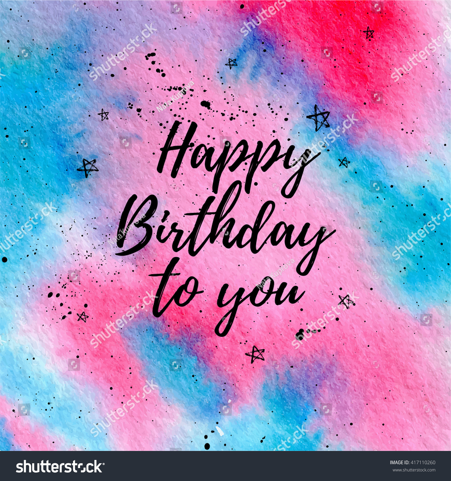 Happy Birthday You Greeting Card Fashion Stock Vector