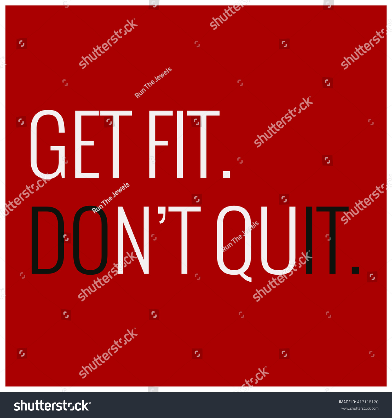Stock illustration 3d red text quot yes quot stock illustration royalty -  Vectors Illustrations Footage Music Get Fit Don T Quit Motivational Quote Gym Poster Design