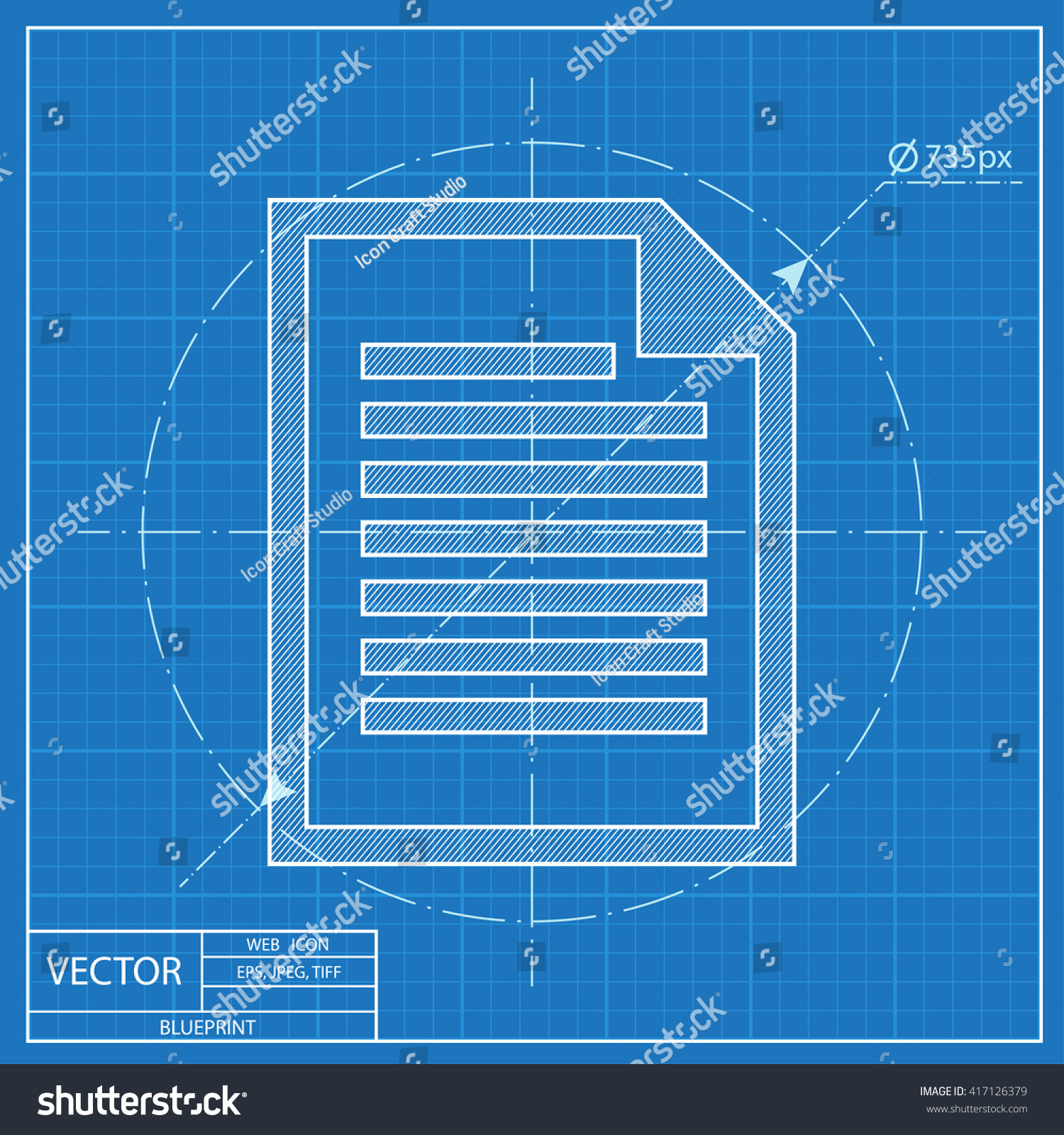 Blueprint icon document stock vector 417126379 shutterstock blueprint icon of document malvernweather Choice Image