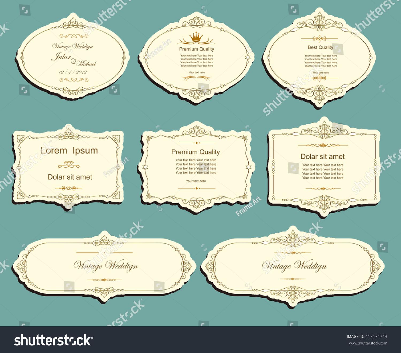 set vector labels cutout paper frames stock vector royalty free