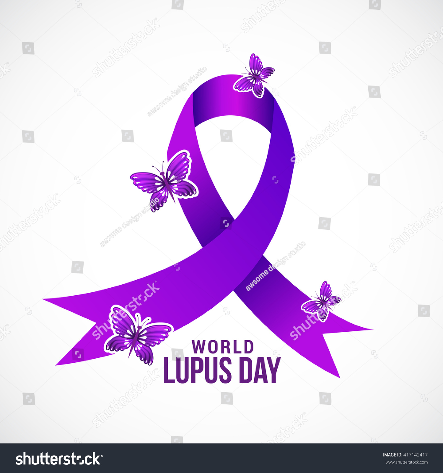 Vector Illustration World Lupus Day Stylish Stock Vector 417142417