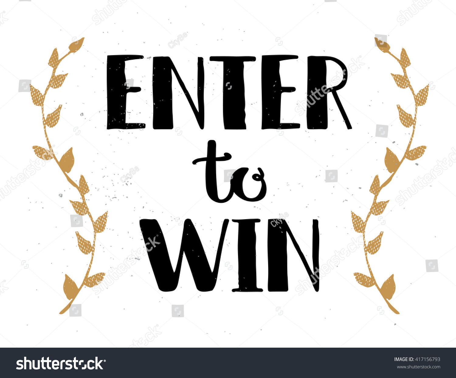 Enter To Win Vector Sign Win Prize Win In Lottery