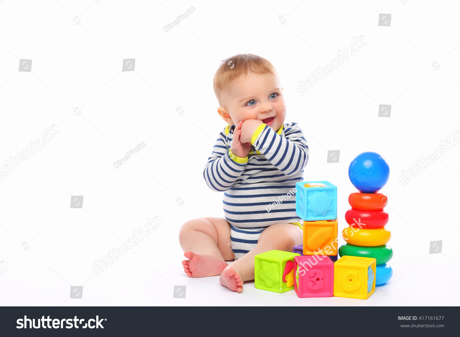 cute babe plays toys stock photo 417161677 - shutterstock