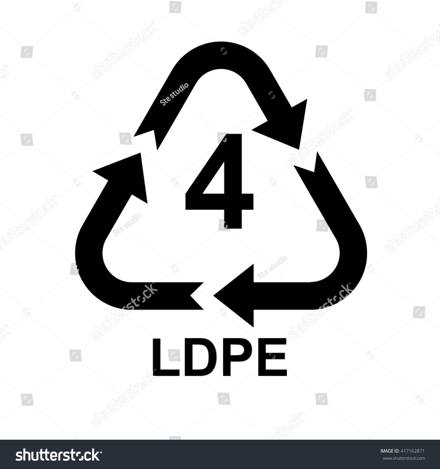 Plastic recycling symbol ldpe 4 vector stock vector 417162871 plastic recycling symbol ldpe 4 vector illustration biocorpaavc Choice Image